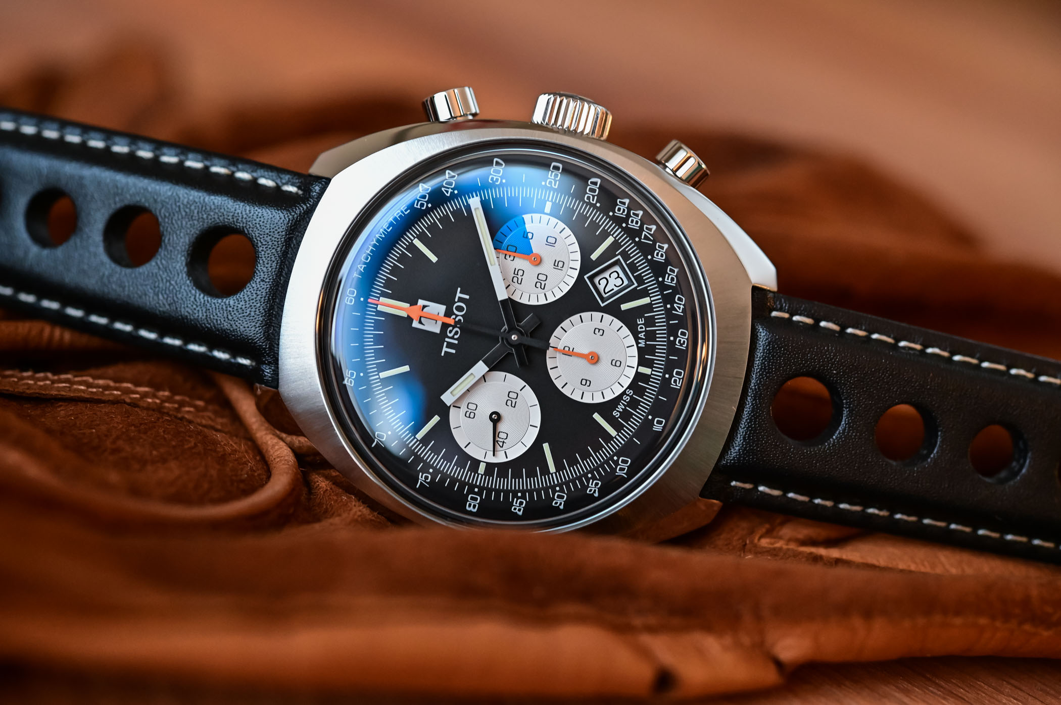 tissot heritage 1973 chronograph T124.427.16.051.00 review - 7