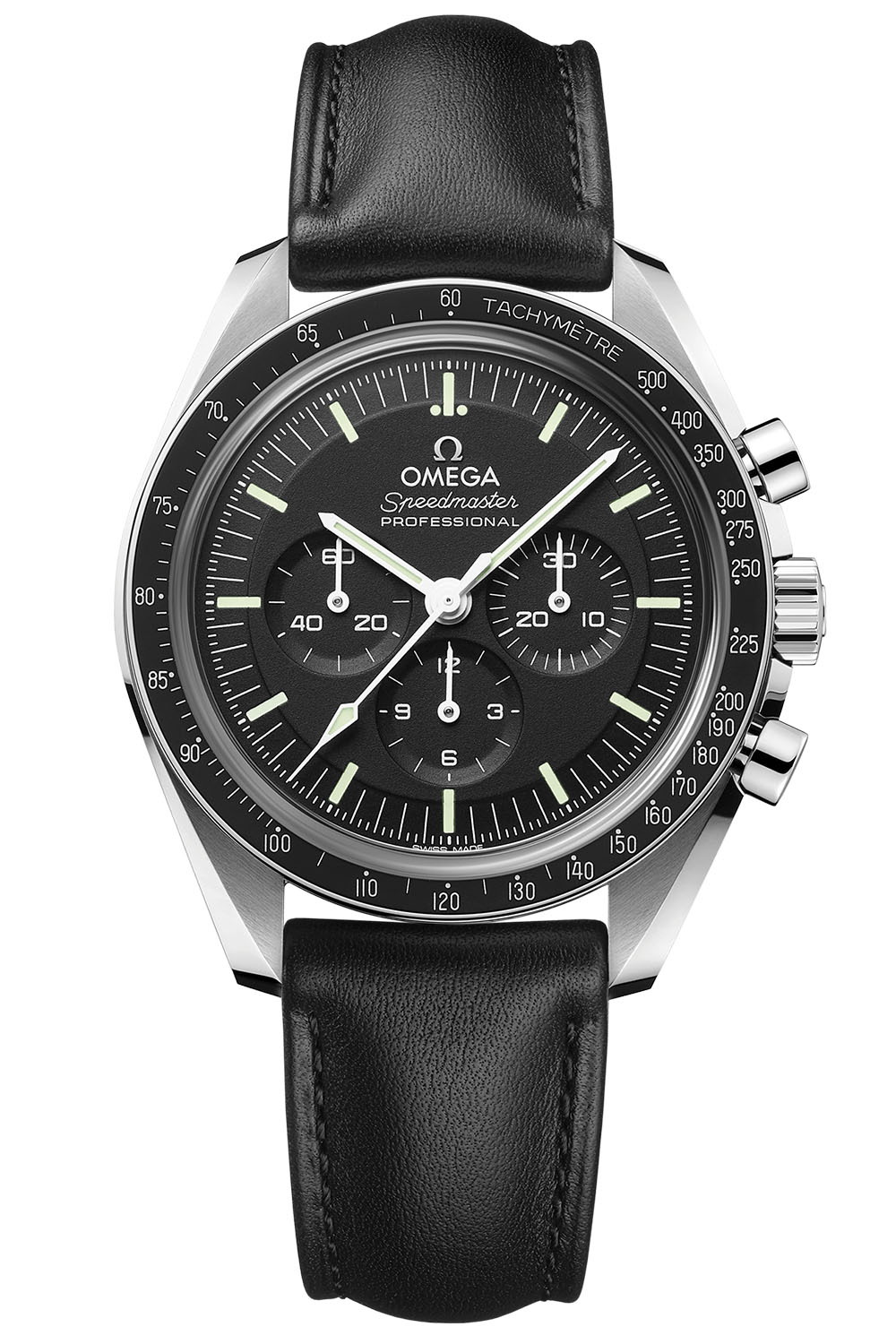 2021 Omega Speedmaster Moonwatch Professional Master Chronometer Sapphire leather strap