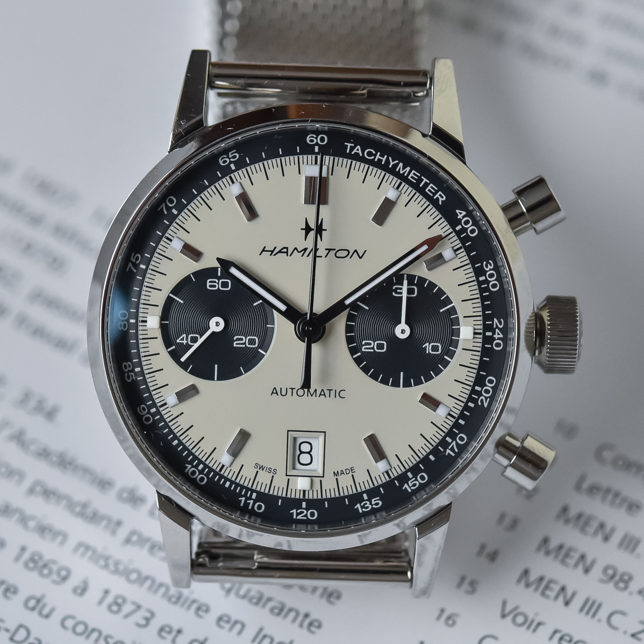 Hamilton Intra-Matic Automatic Chronograph 40mm 2021 collection - H38416111 - H38416141 - 3