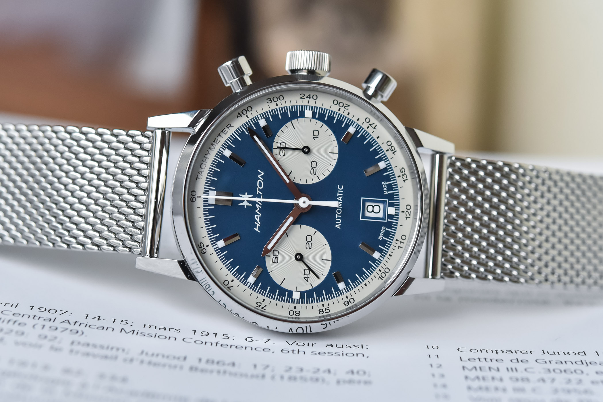 Hamilton Intra-Matic Automatic Chronograph 40mm 2021 collection - H38416111 - H38416141 - 4