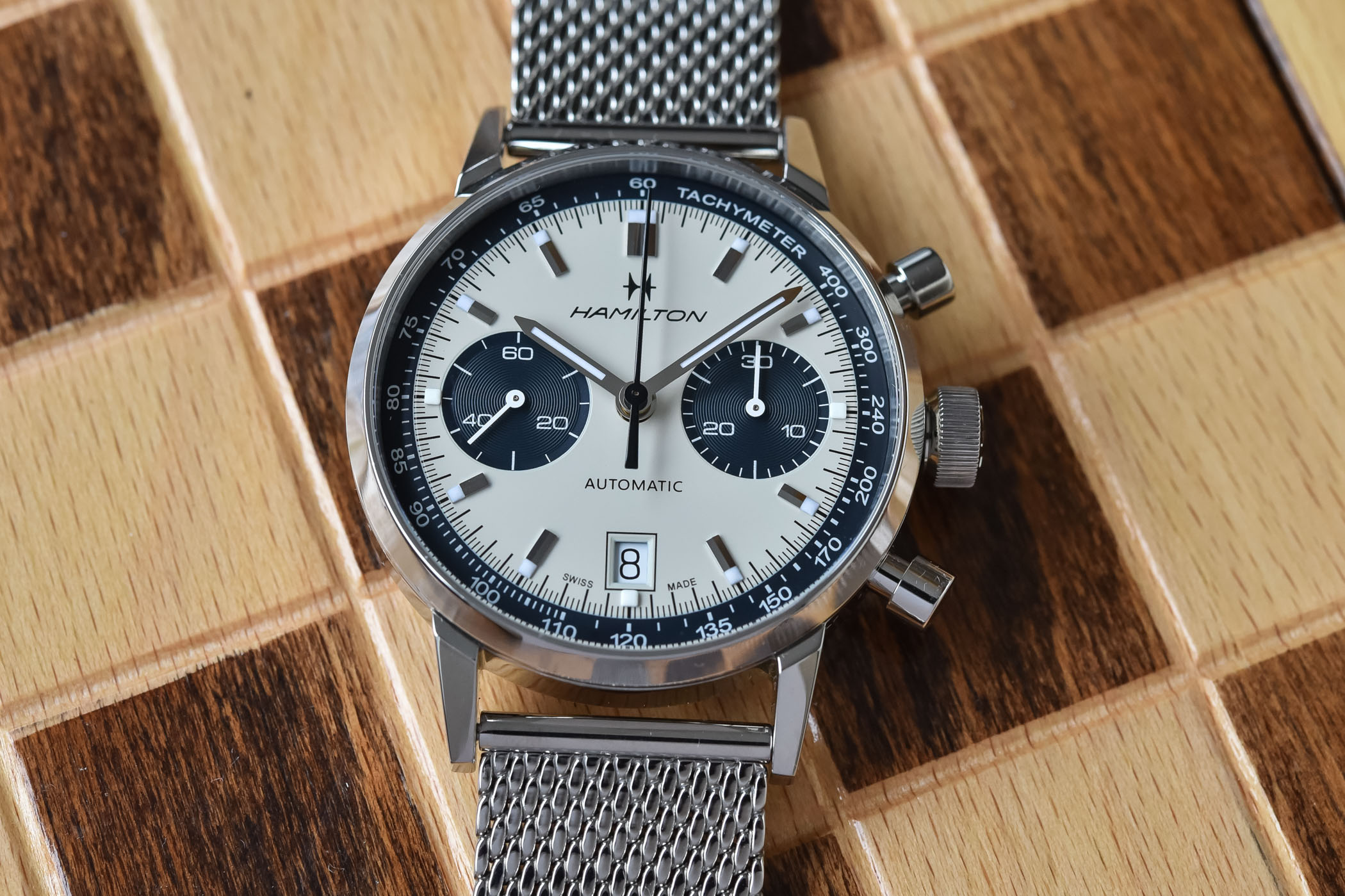 Hamilton Intra-Matic Automatic Chronograph 40mm 2021 collection - H38416111 - H38416141 - 7
