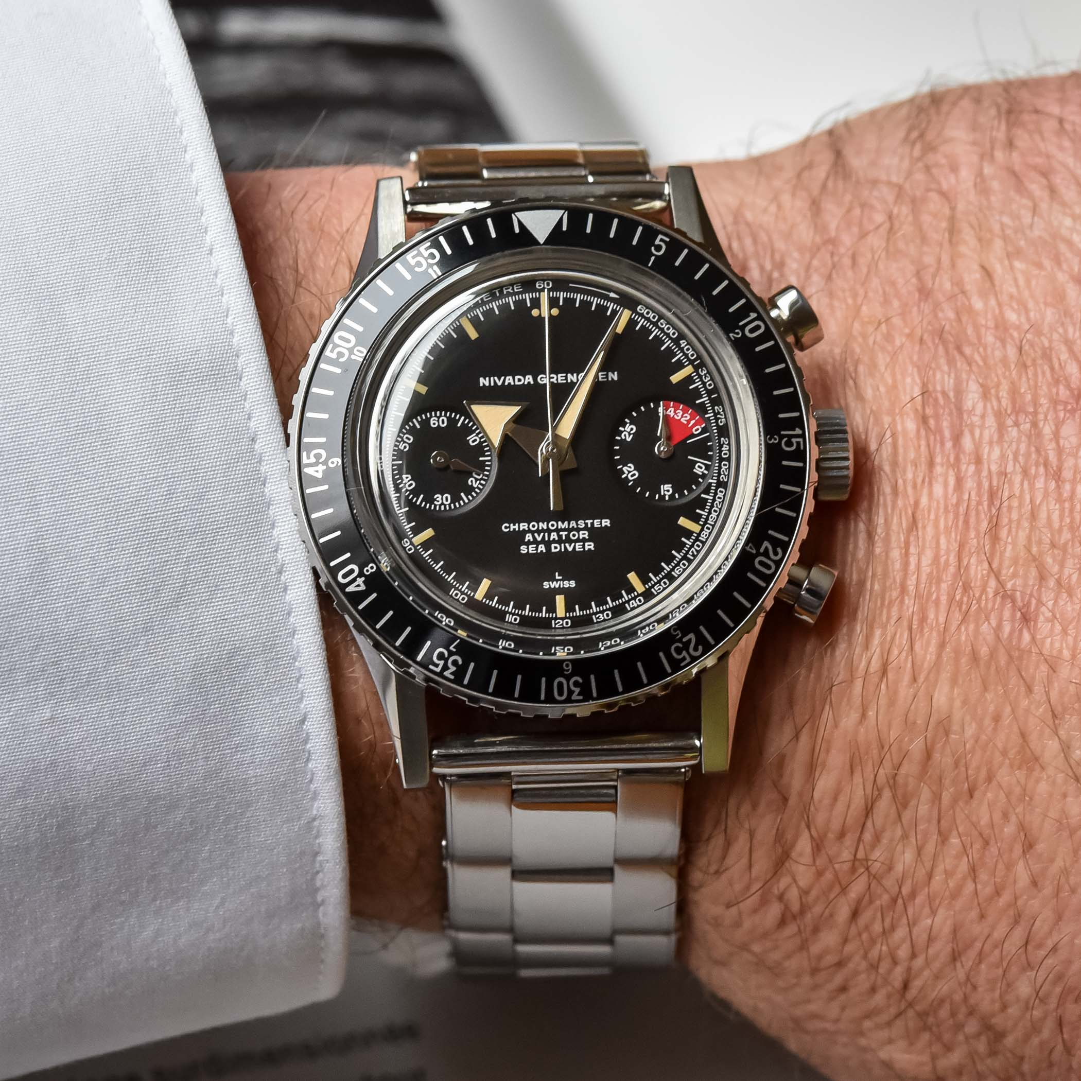 Nivada Grenchen Chronomaster Aviator Sea Diver Re-edition 2021