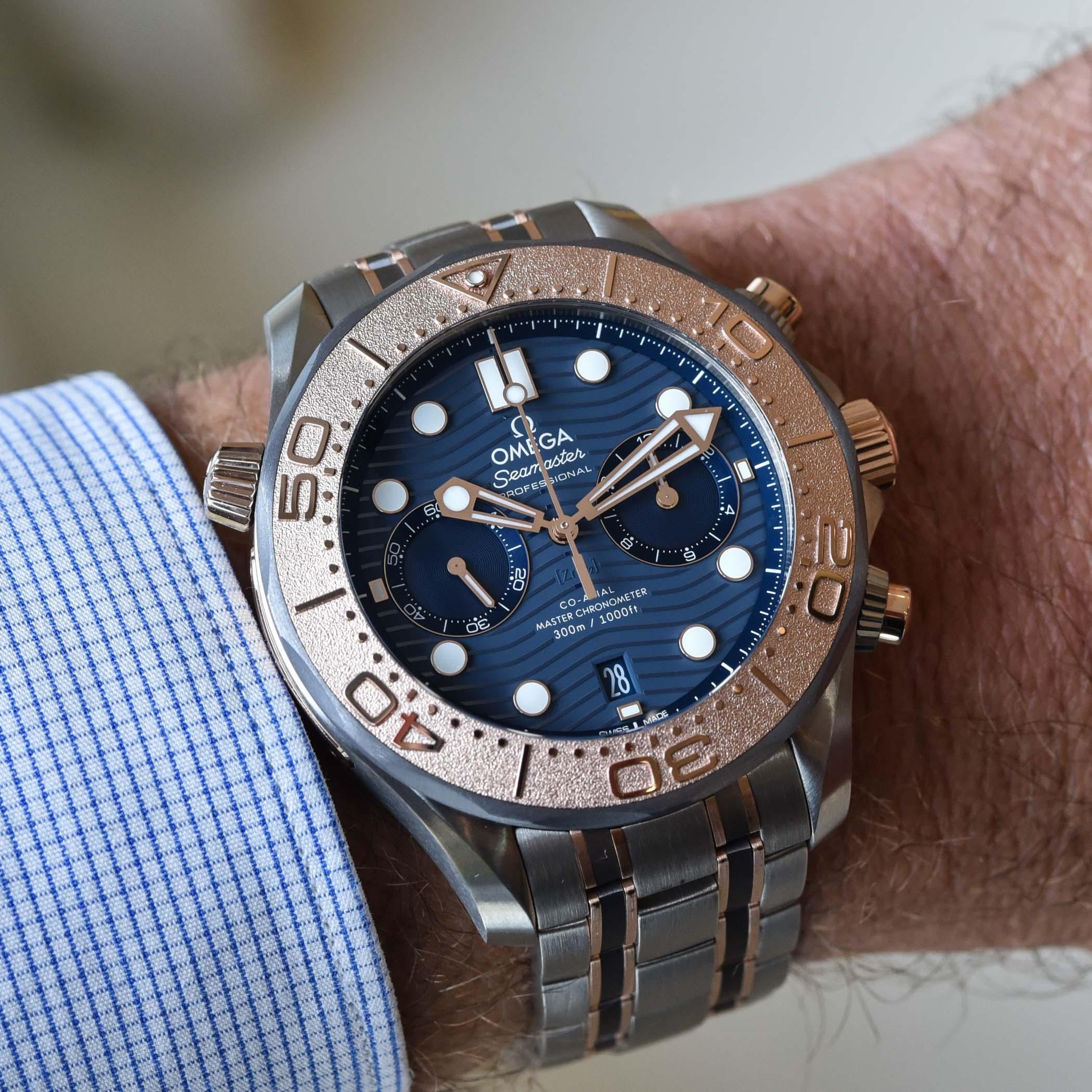 Omega Seamaster Diver 300M Chronograph tri-metal Titanium Tantalum Gold - 3