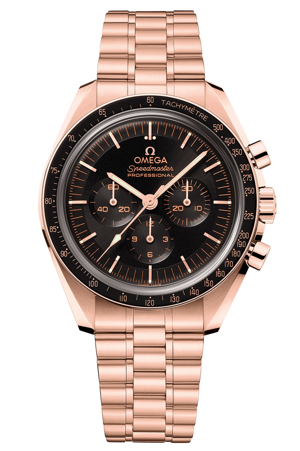 Omega Speedmaster Moonwatch Professional Master Chronometer Sedna gold