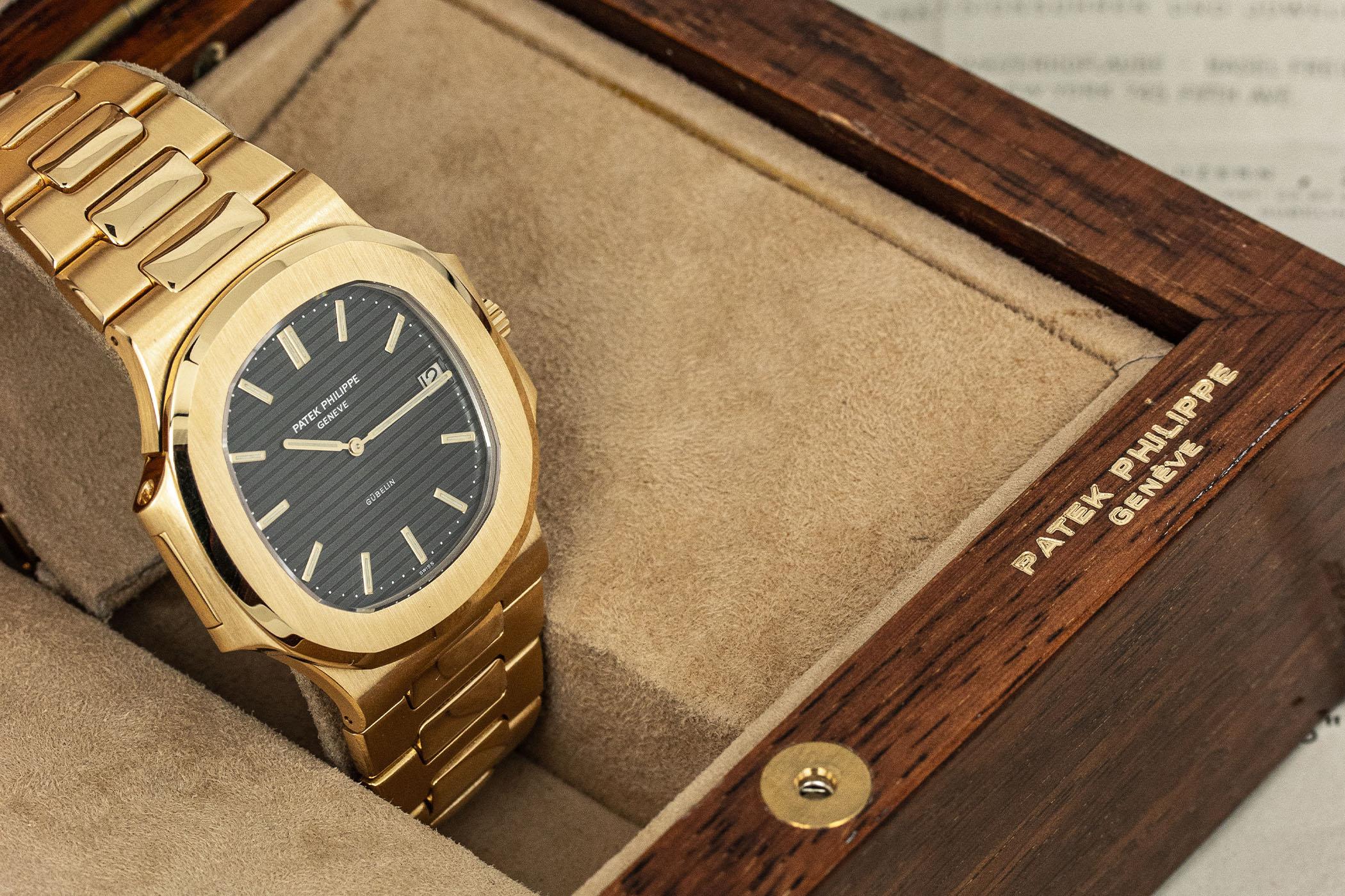 Found - A Gold Patek Philippe Nautilus 3700-1J Gübelin-Signed