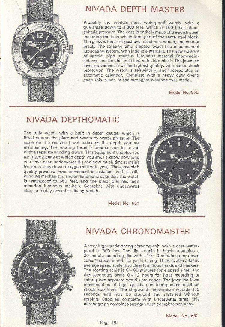 Vintage Nivada Grenchen Chronomaster - 00001