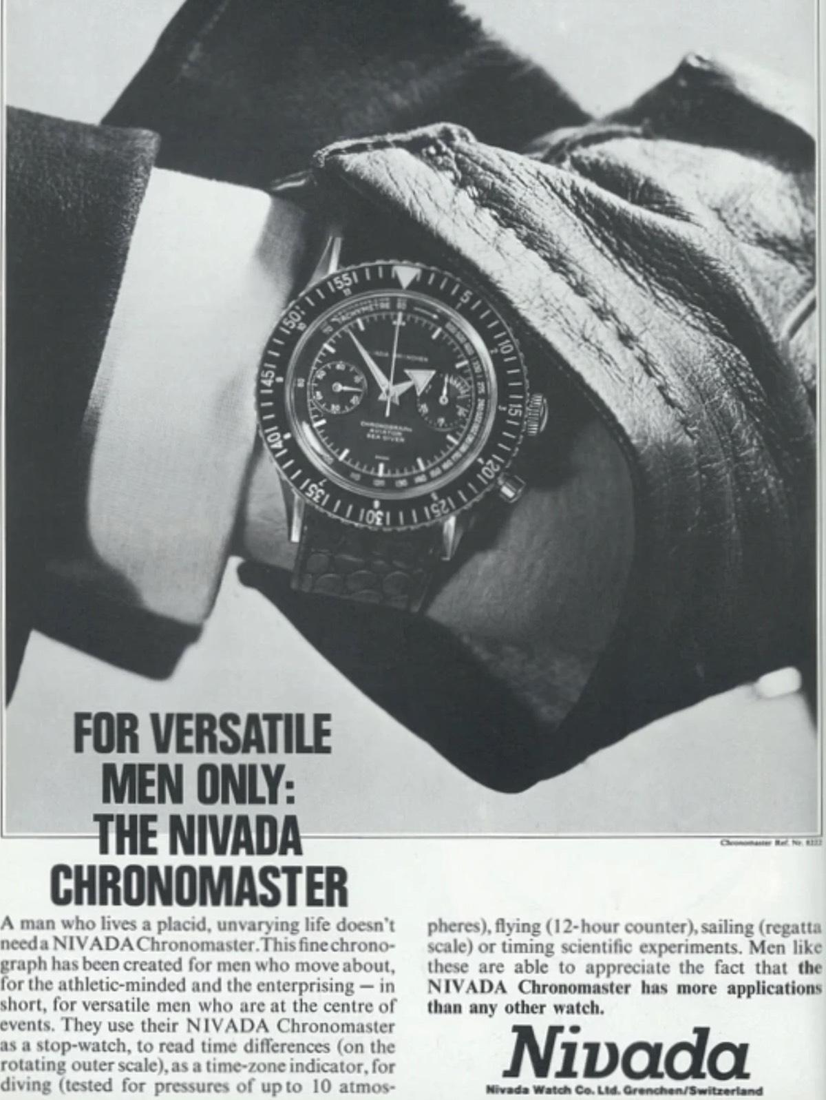 Vintage Nivada Grenchen Chronomaster - 00002
