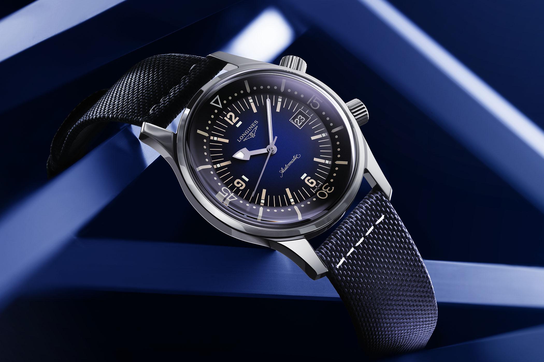 2021 Longines Legend Diver Date Gradient Blue Dial L3.774.4.90.2