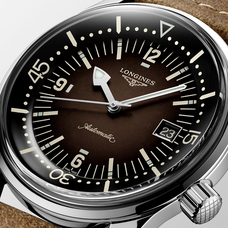 2021 Longines Legend Diver Date Gradient Brown Dial L3.774.4.60.2