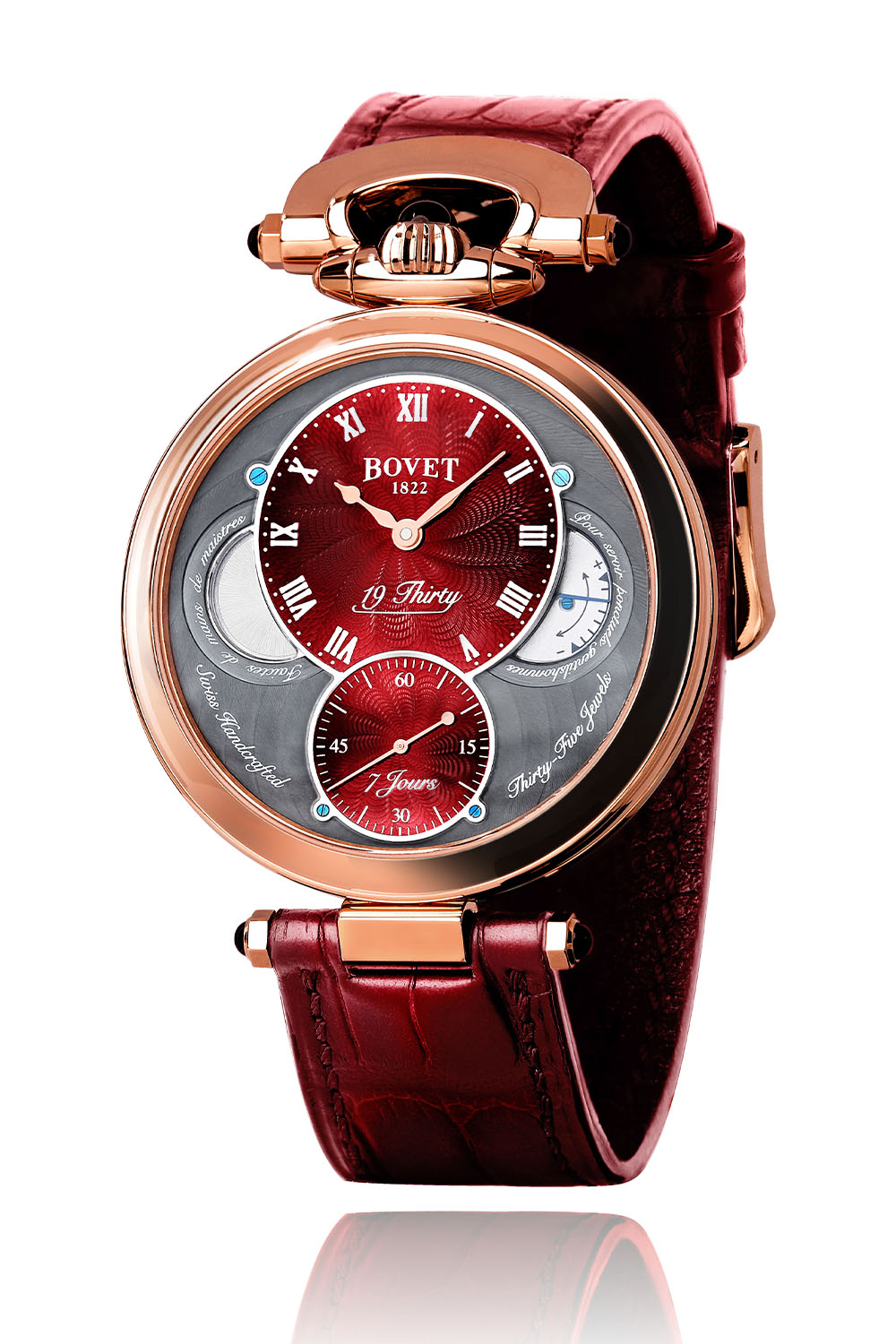 Bovet Fleurier 19Thirty Red Guilloche