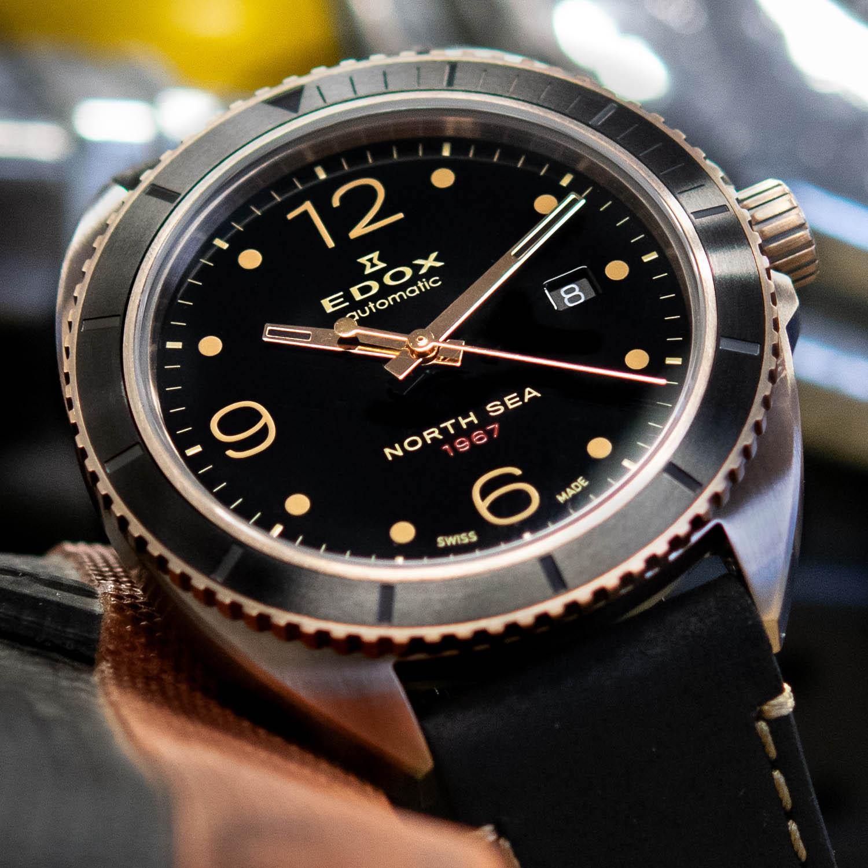 Edox North Sea 1967 Historical Bronze Limited Edition 80118-BRN-N67 - 6