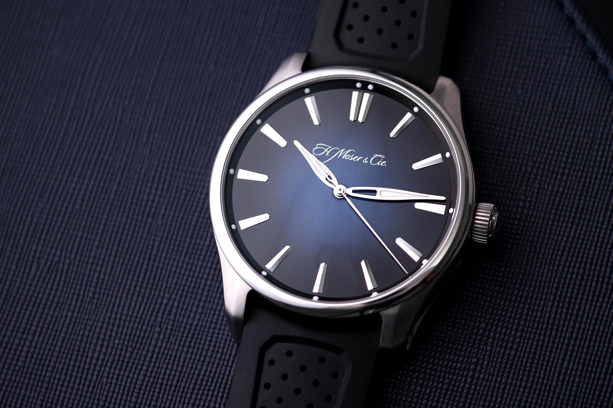 Moser Pioneer Centre Seconds Blue dial