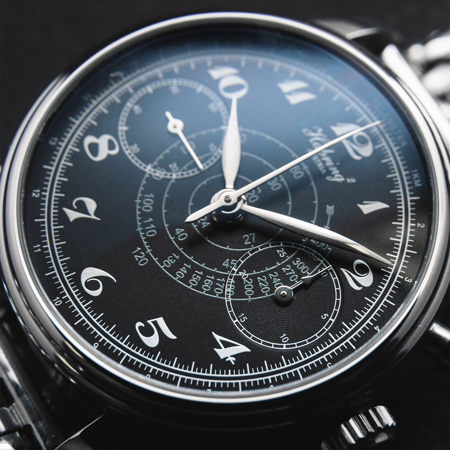 Habring² Monopusher Chronograph Japan Edition Black Dial