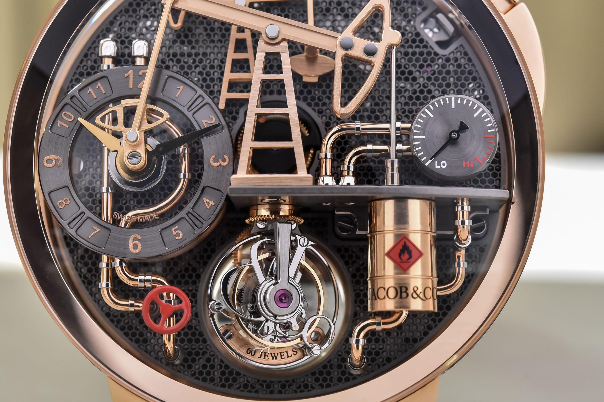 Jacob and Co Oil Pump Tourbillon Automaton Rose Gold - Review - 4
