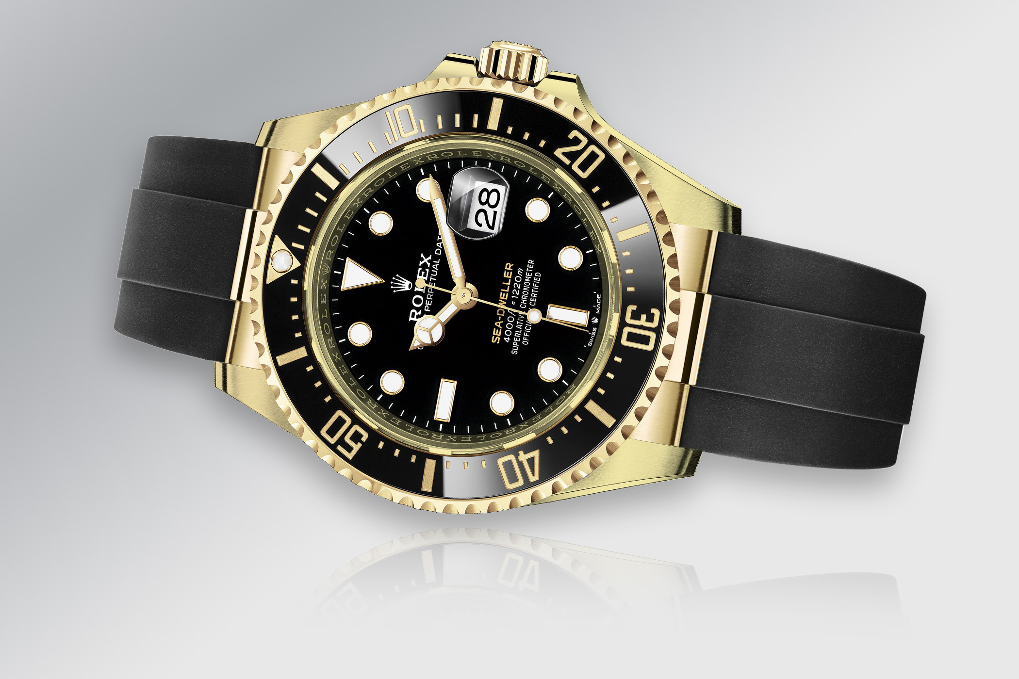 Rolex Predictions 2021 - Rolex New models 2021 - Rolex Sea-Dweller 43mm Yellow Gold Oysterflex 126608