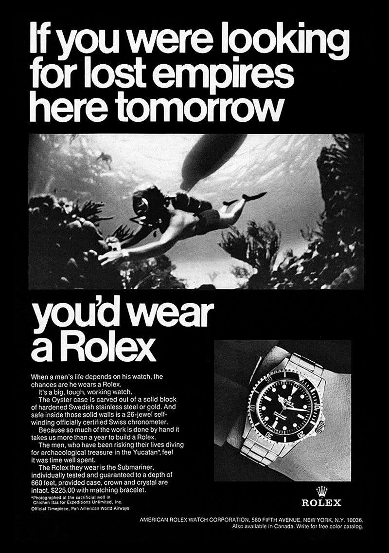 vintage rolex submariner ad
