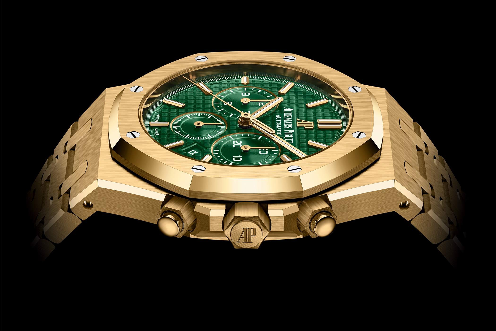 Audemars Piguet Royal Oak Selfwinding Chronograph 41mm Yellow Gold Green dial 26331BA.OO.1220BA.02