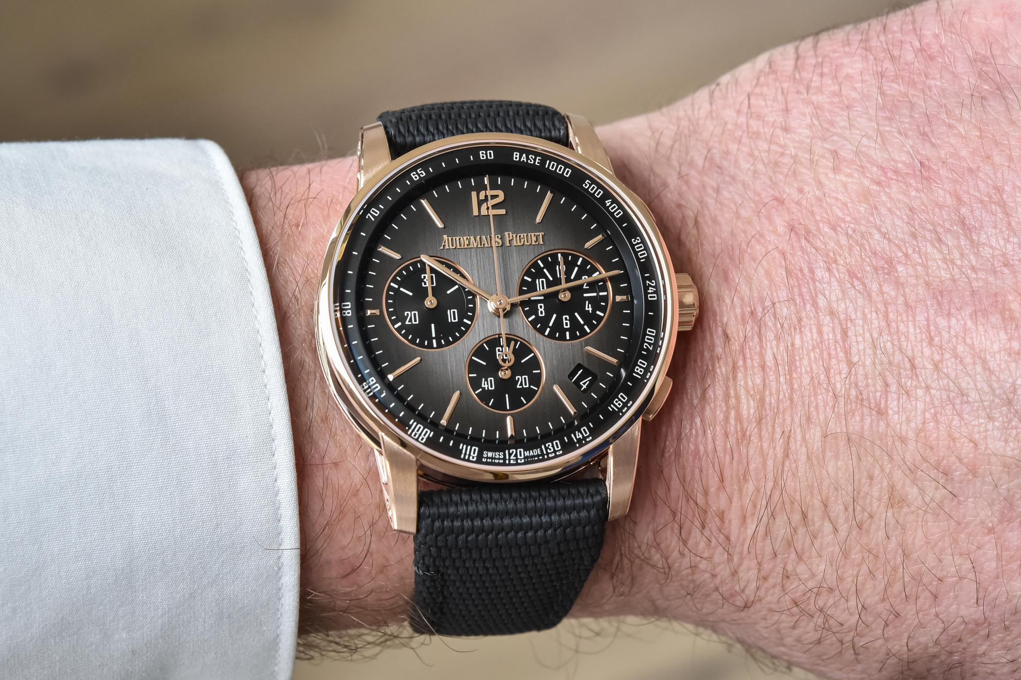 Code 11.59 by Audemars Piguet Selfwinding Chronograph Gold and Ceramic - 26393NR.OO.A002CA.01