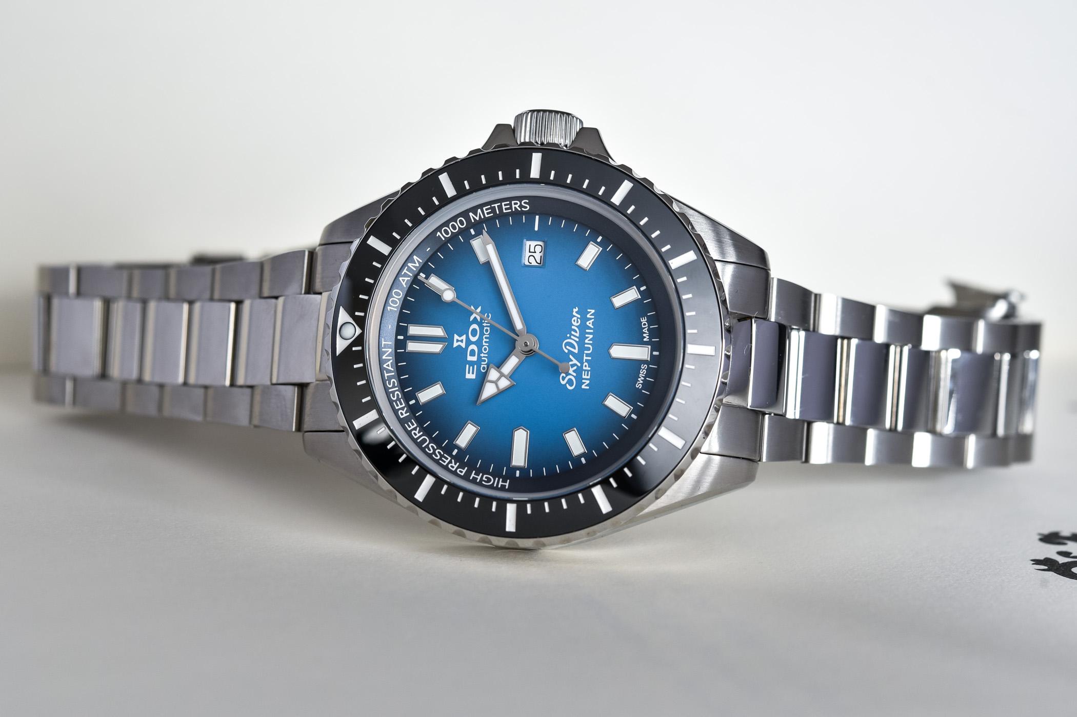 Edox SkyDiver Neptunian Deep Dive Watch 1000m