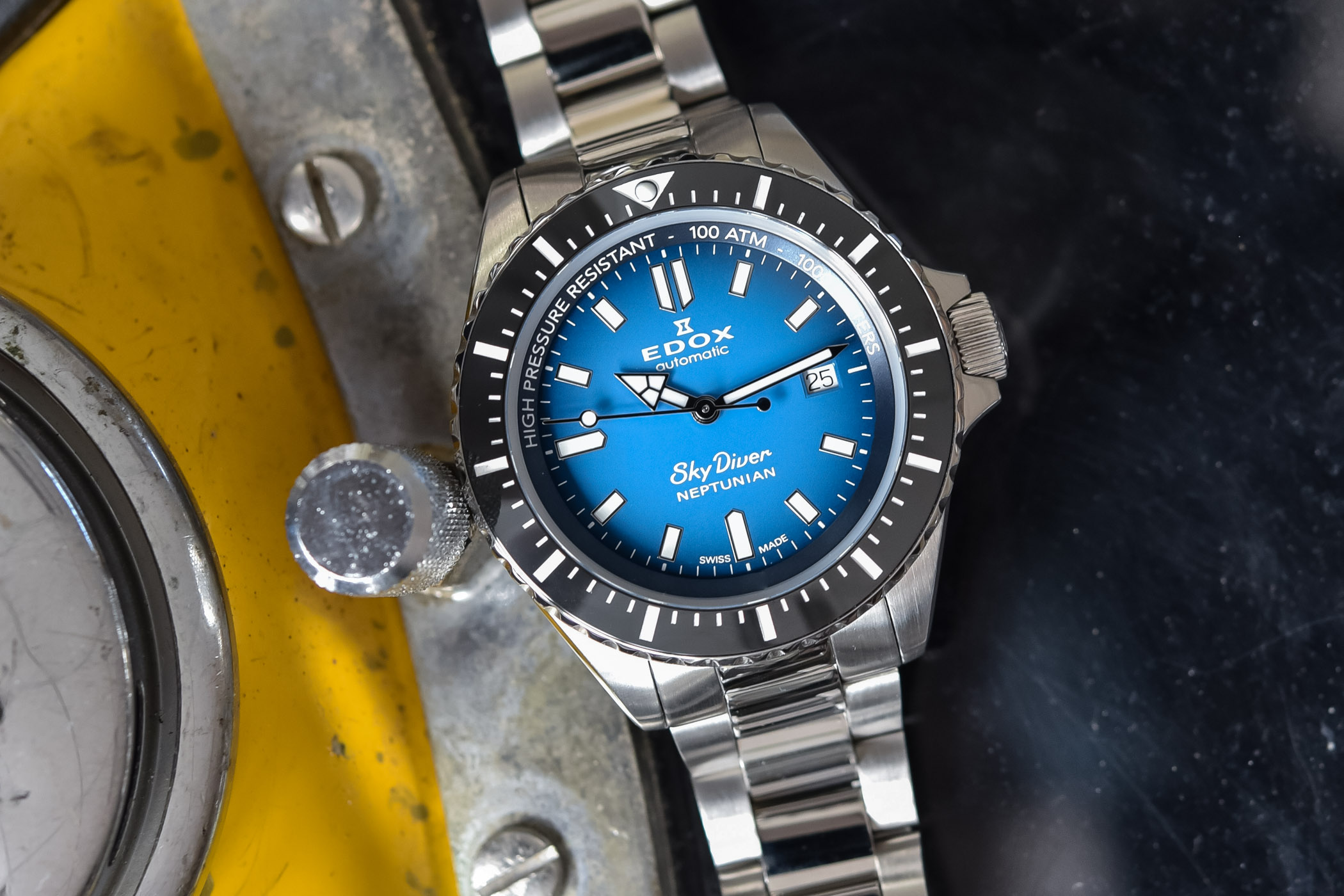 Edox SkyDiver Neptunian Deep Dive Watch 1000m
