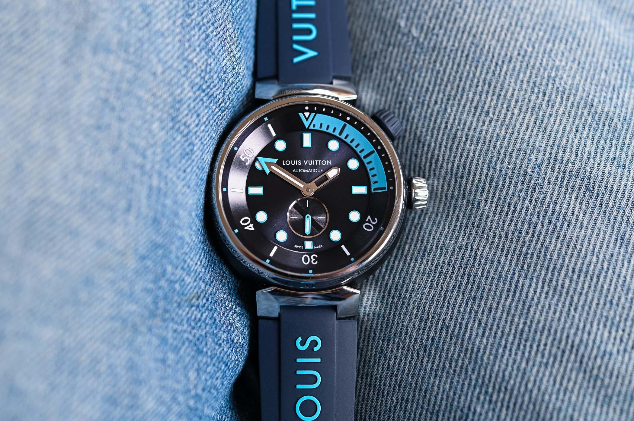 Louis Vuitton Tambour Street Diver Skyline Blue