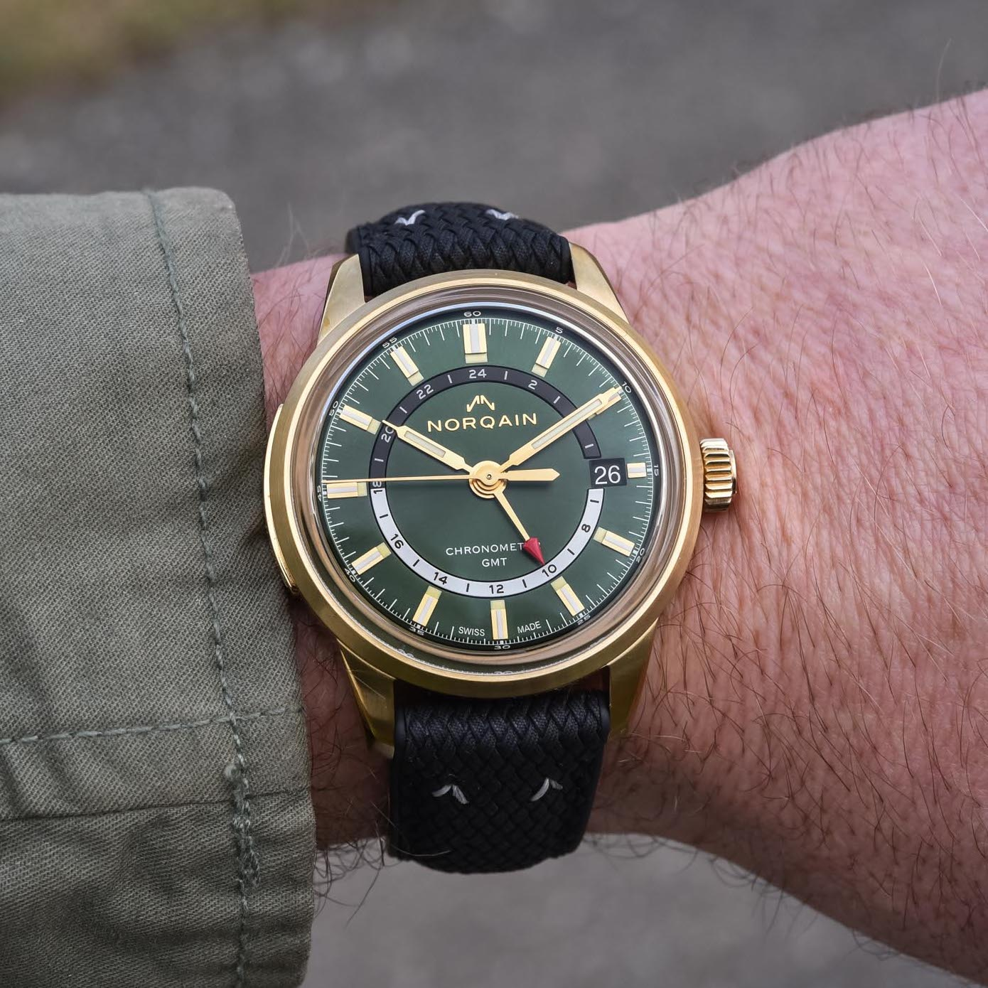 Norqain Freedom 60 GMT Bronze Green dial limited edition - 16