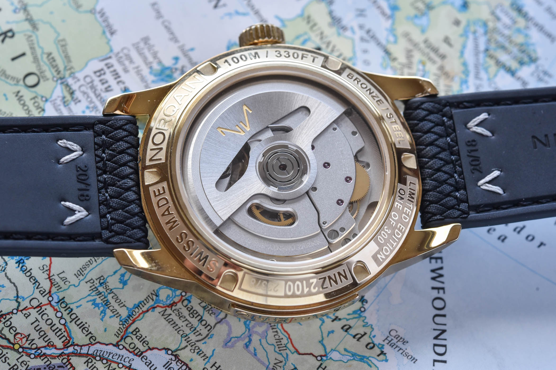 Norqain Freedom 60 GMT Bronze Green dial limited edition