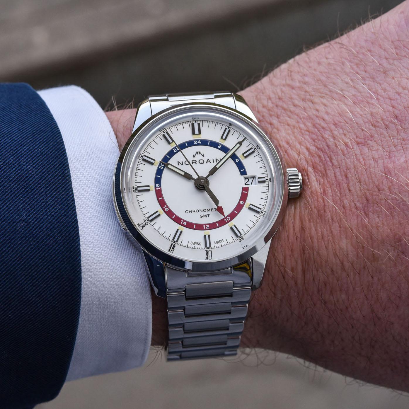 Norqain Freedom 60 GMT Steel white pepsi dial - 14