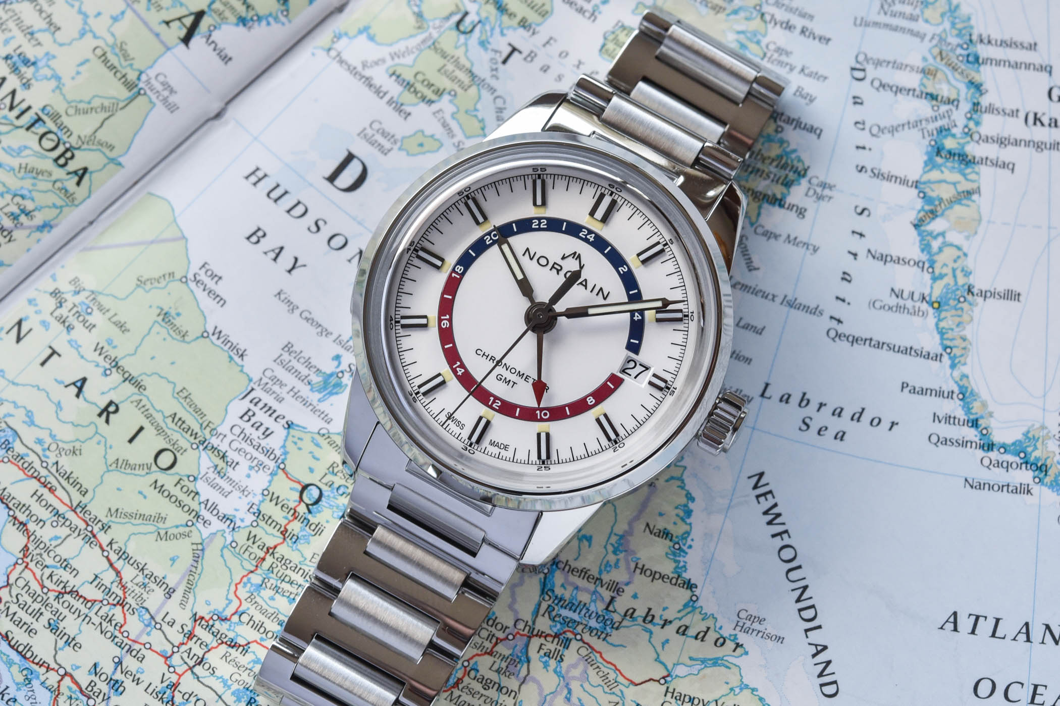 Norqain-Freedom-60-GMT-Steel-white-pepsi