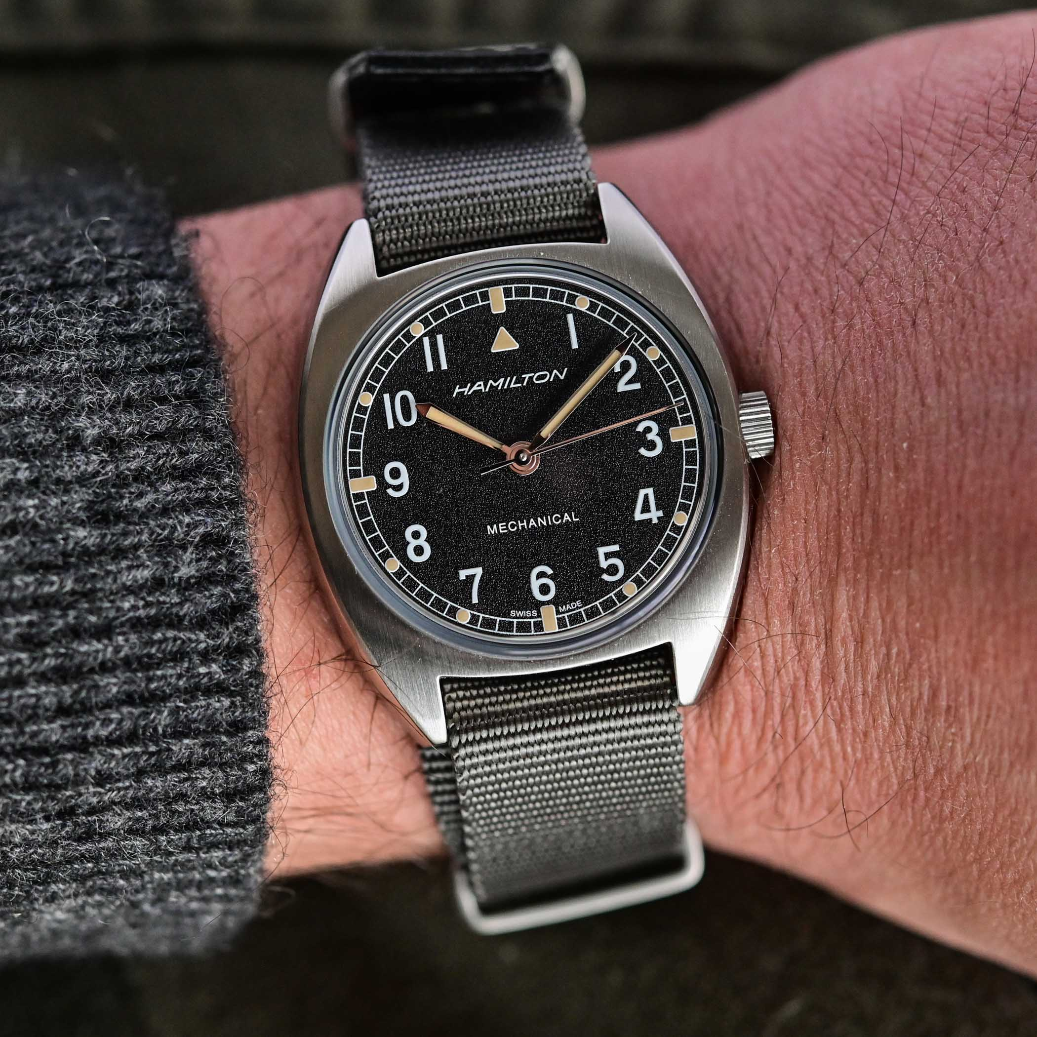 battle of accessible British military-inspired watches - comparative review Hamilton Khaki Pilot Pioneer Mechanical versus Timor Heritage Field - 1