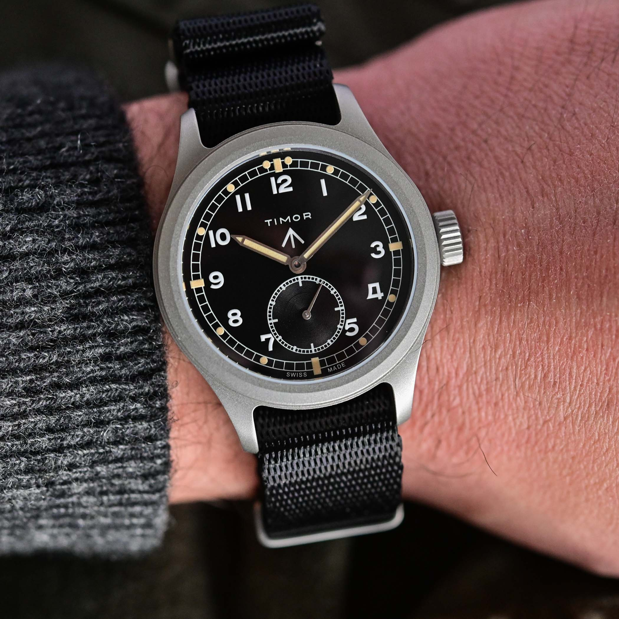 battle of accessible British military-inspired watches - comparative review Hamilton Khaki Pilot Pioneer Mechanical versus Timor Heritage Field - 2