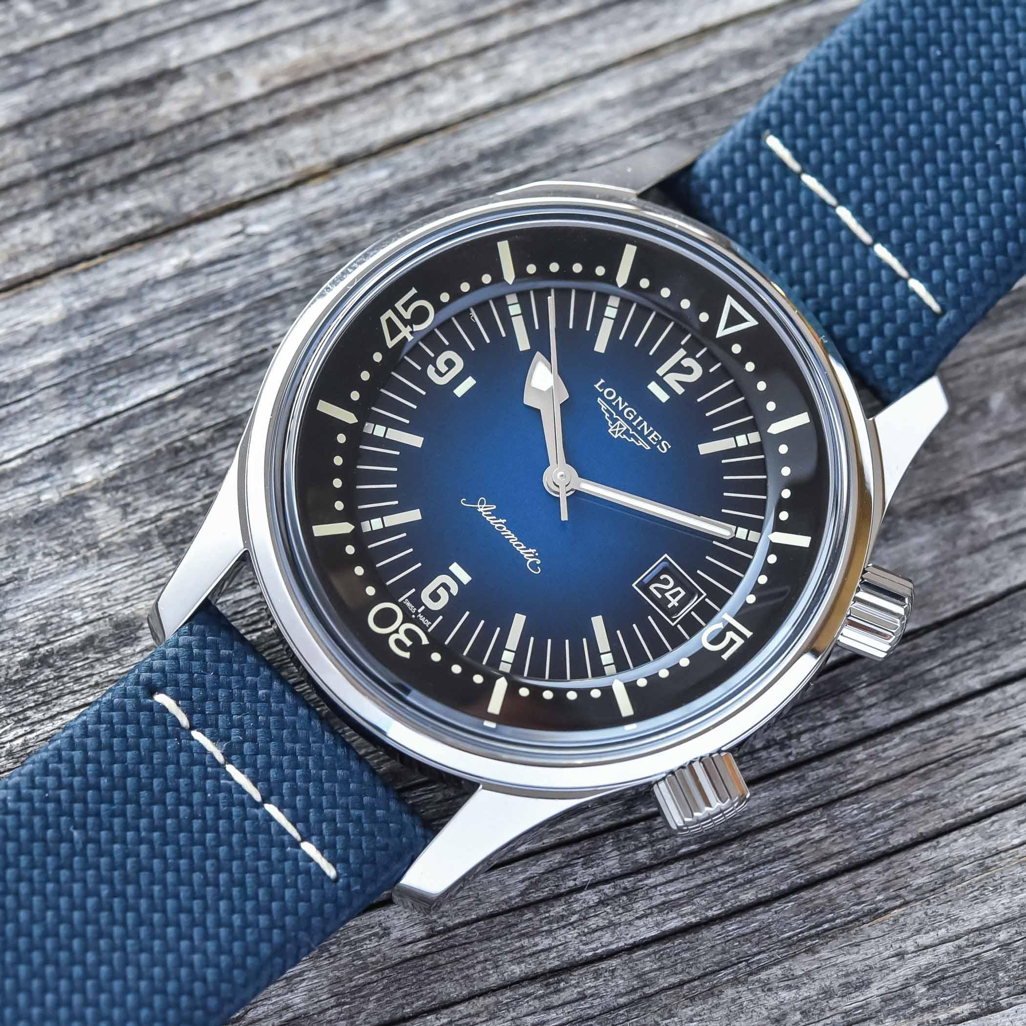 2021 Longines Legend Diver Gradient Blue L3.774.4.90.2 - review - 1
