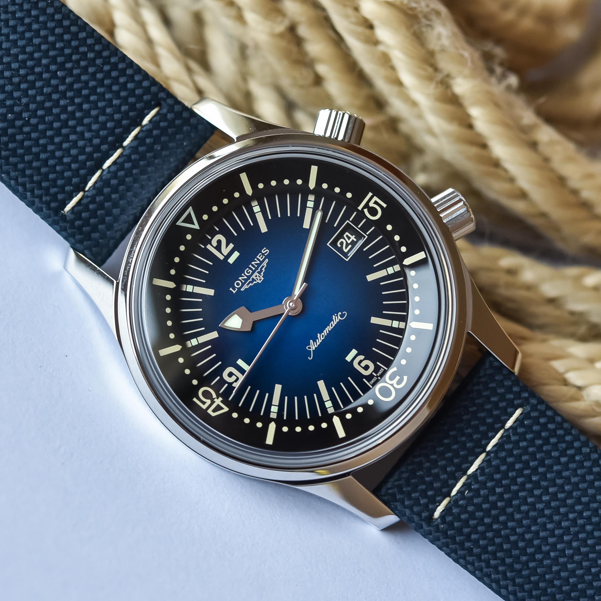 2021 Longines Legend Diver Gradient Blue L3.774.4.90.2 - review - 3
