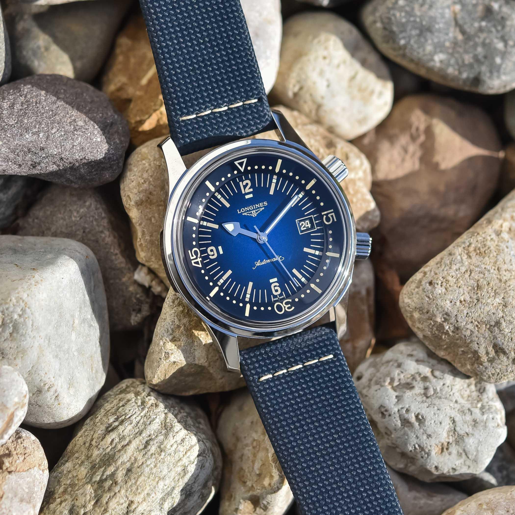 2021 Longines Legend Diver Gradient Blue L3.774.4.90.2 - review - 6