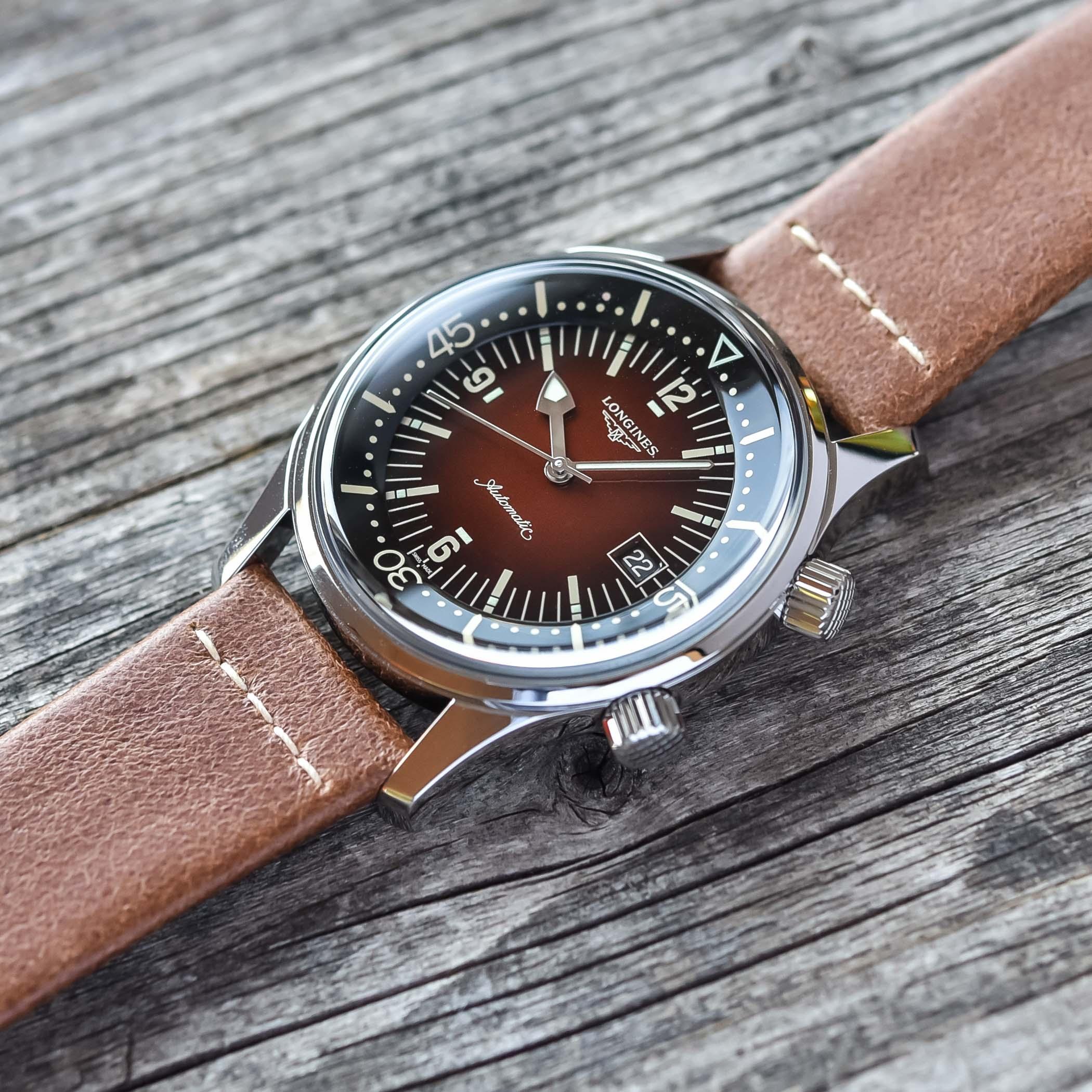 2021 Longines Legend Diver Gradient Brown L3.774.4.60.2 - review - 1