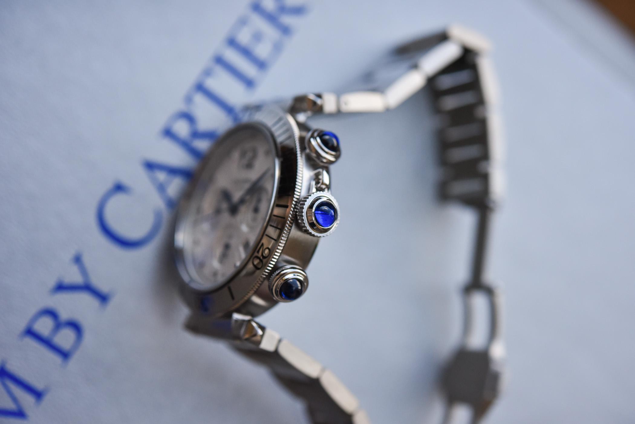 2021 Pasha de Cartier Chronograph 41mm hands-on - 4