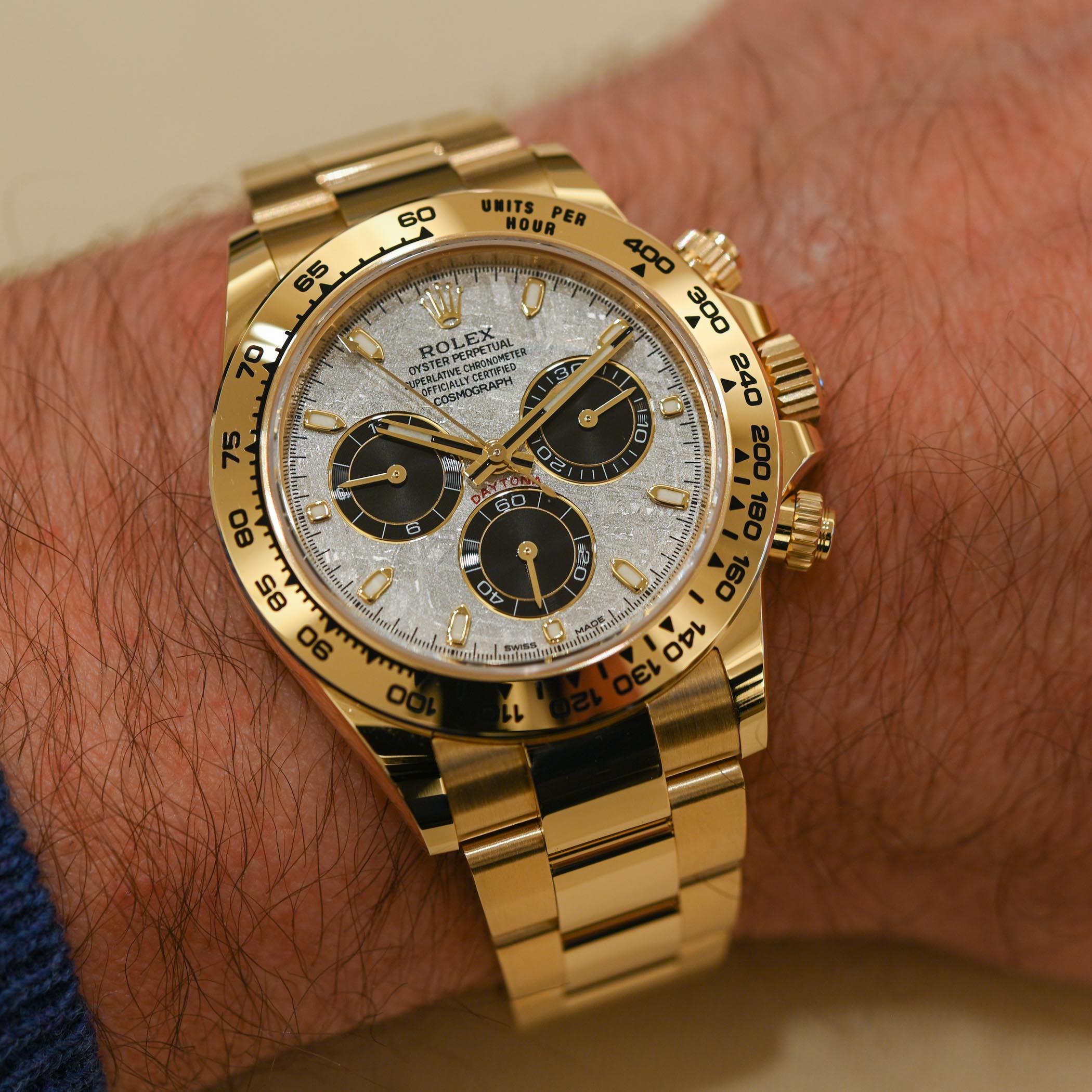 2021 Rolex Daytona meteorite panda dial yellow gold M116508-0015