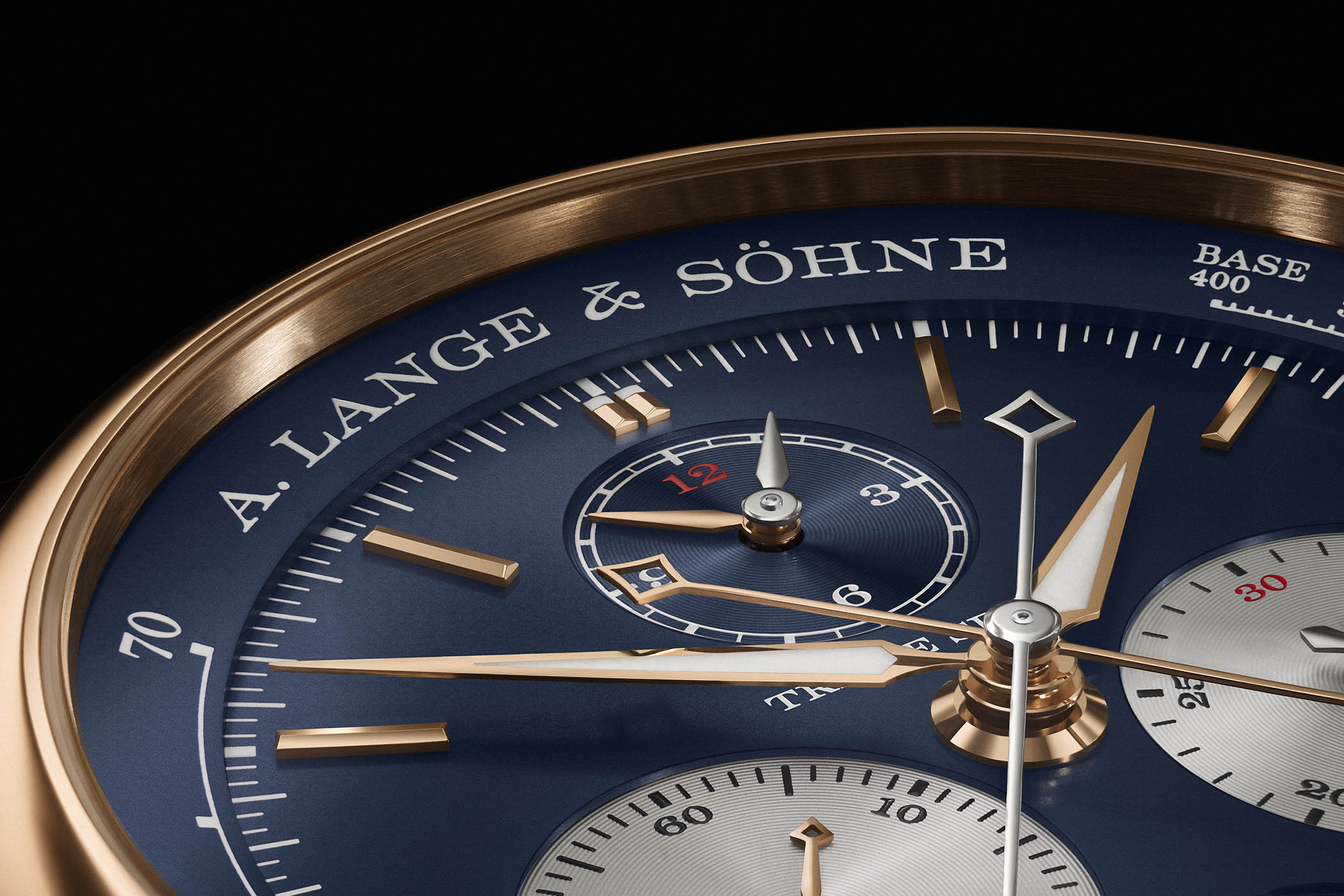 A. Lange & Söhne Triple Split Pink Gold Blue Dial 424.037F