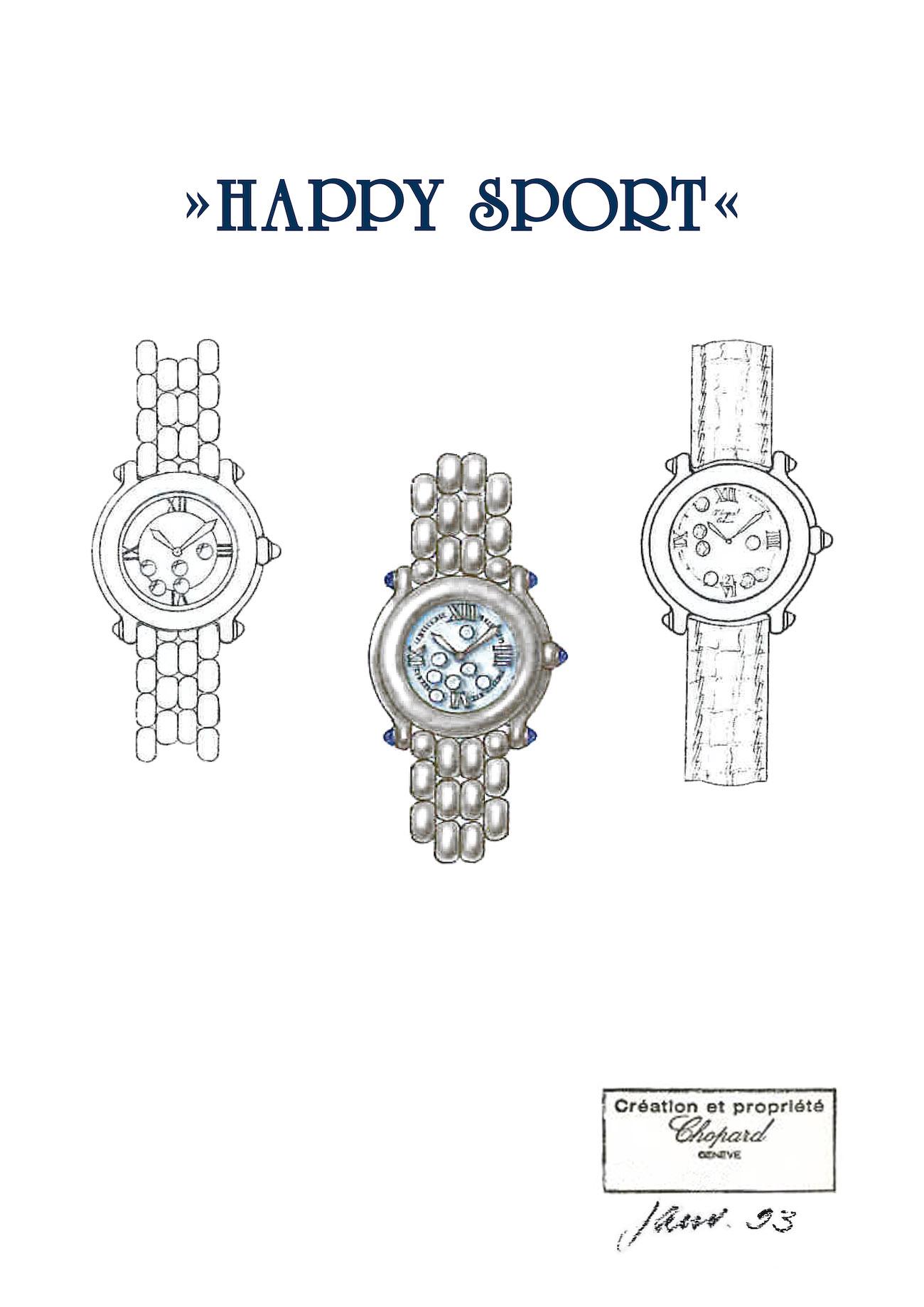 Chopard Happy Sport sketch from 1993