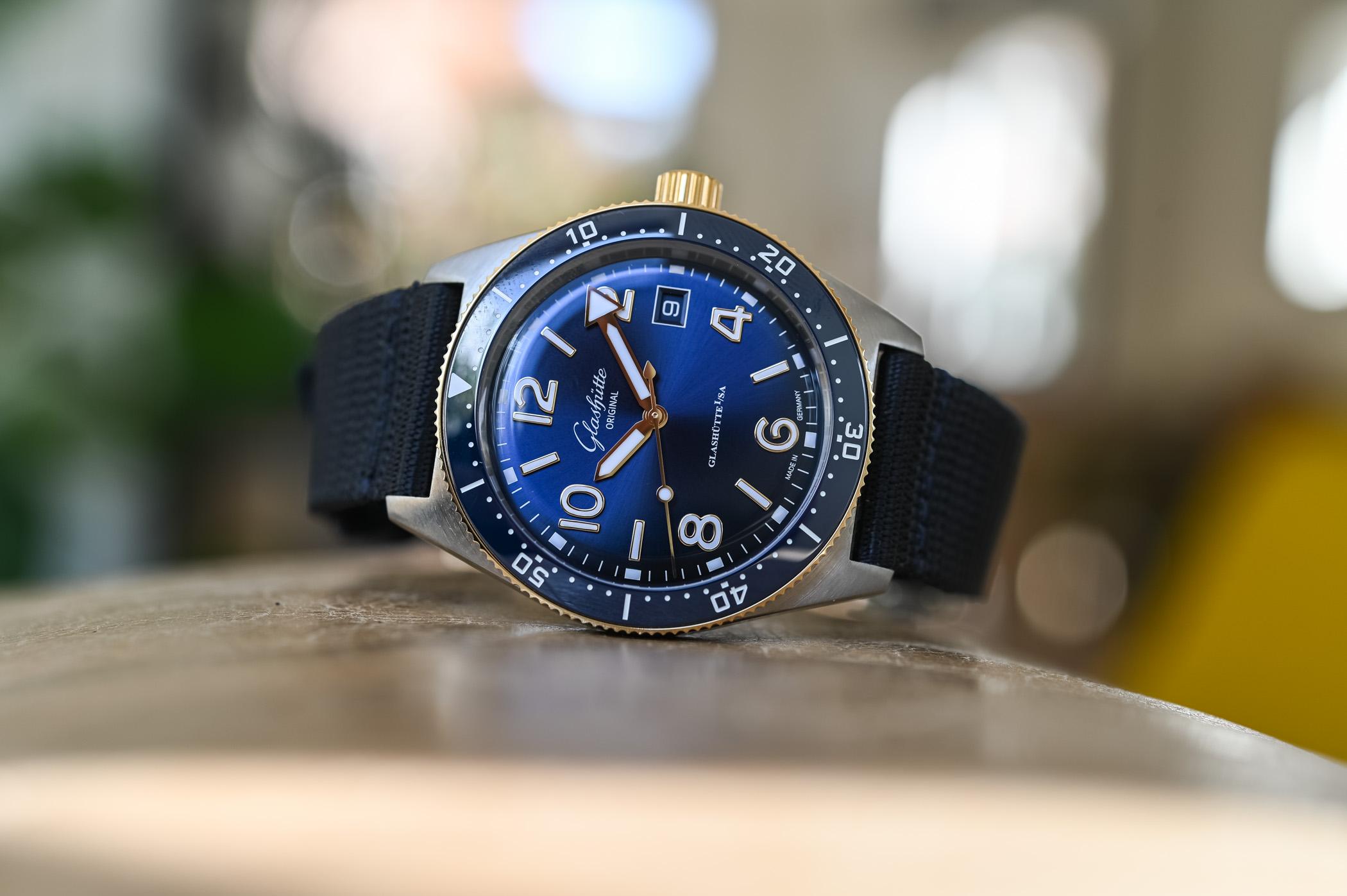 Glashutte Original SeaQ 39.5mm Bicolor Blue Dial 2021 - 2