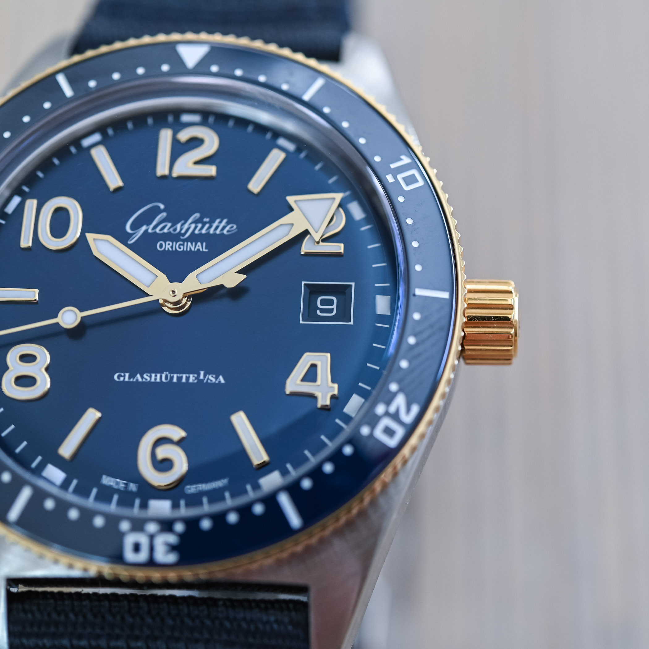 Glashutte Original SeaQ 39.5mm Bicolor Blue Dial 2021 - 7