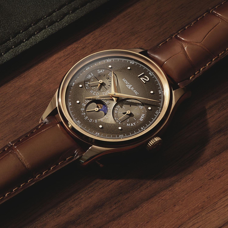 Montblanc Heritage Perpetual Calendar LE100 Rose Gold Brown dial