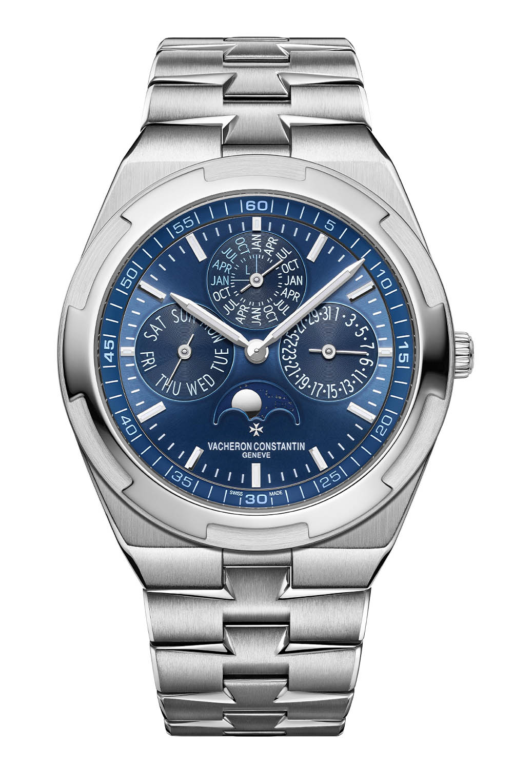 New Editions of the Vacheron Constantin Overseas Perpetual Calendar Ultra-Thin in White Gold 2021 - 7