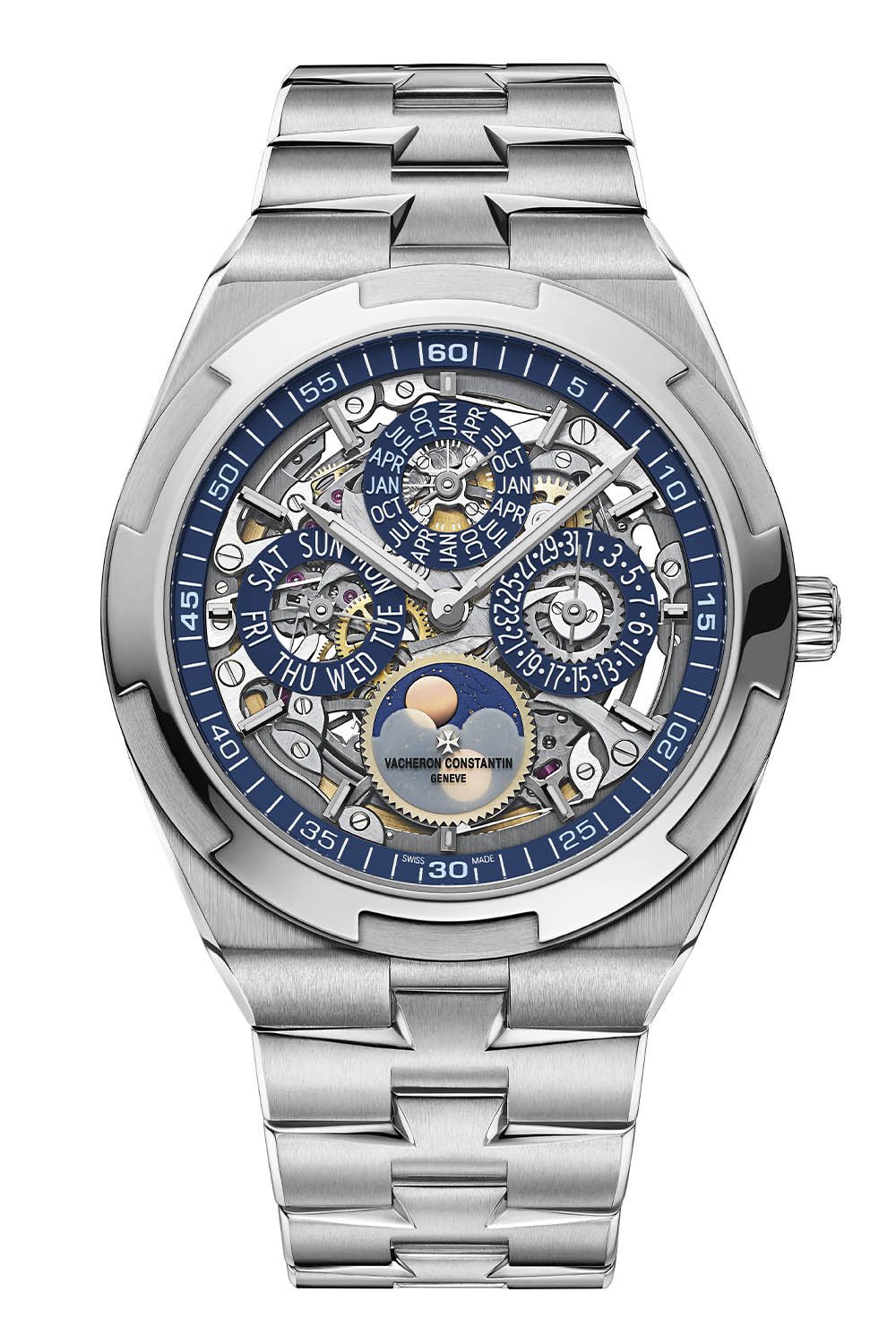 New Editions of the Vacheron Constantin Overseas Perpetual Calendar Ultra-Thin in White Gold 2021 - 8