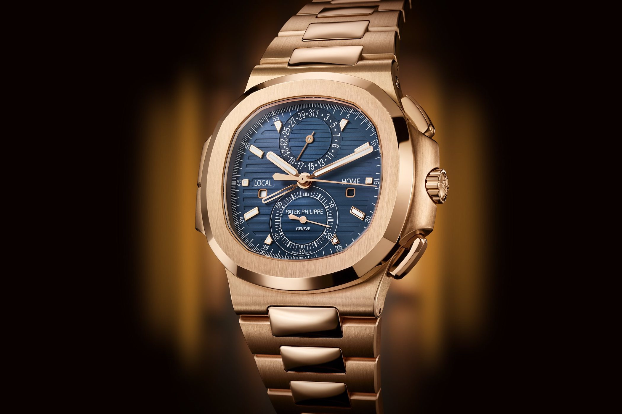 Patek Philippe Nautilus Travel Time Chronograph Rose gold 5990-1R-001