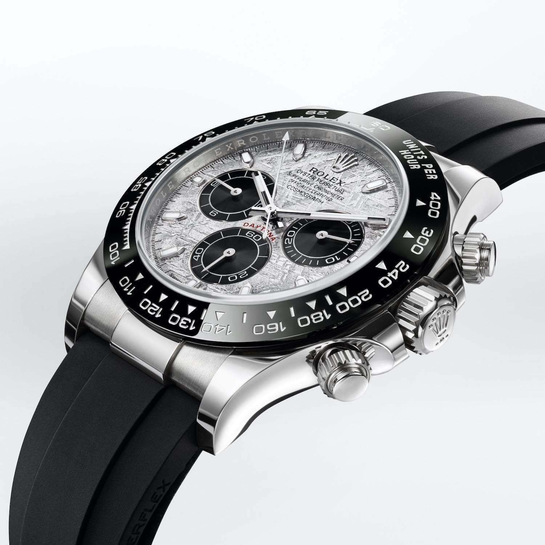 Rolex Daytona Meteorite dial white gold ceramic bezel oysterflex bracelet - 116519LN