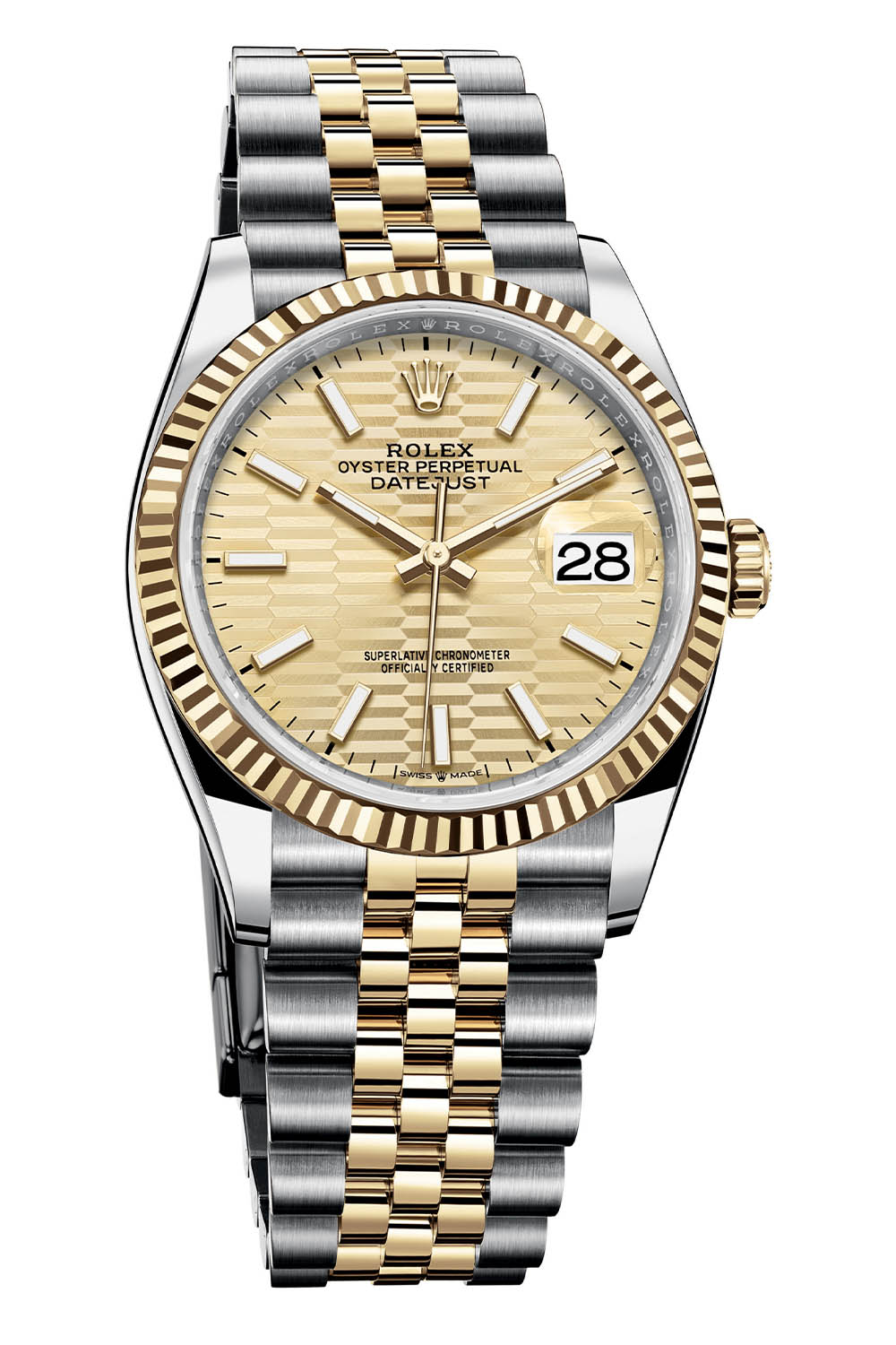 Rolex Oyster Perpetual Datejust 36 fluted dial