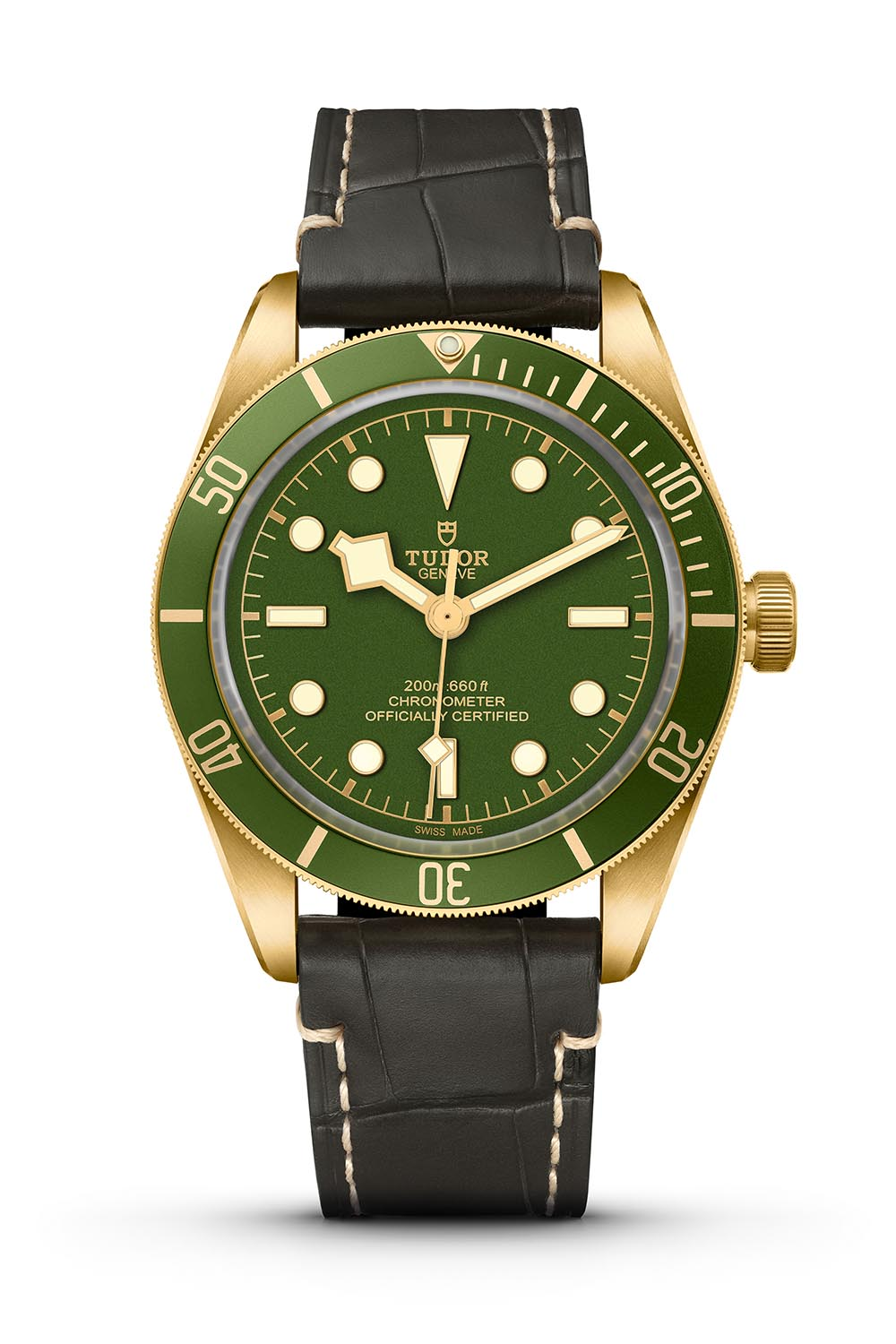 Tudor Black Bay Fifty-Eight 18k yellow gold green dial 79018V