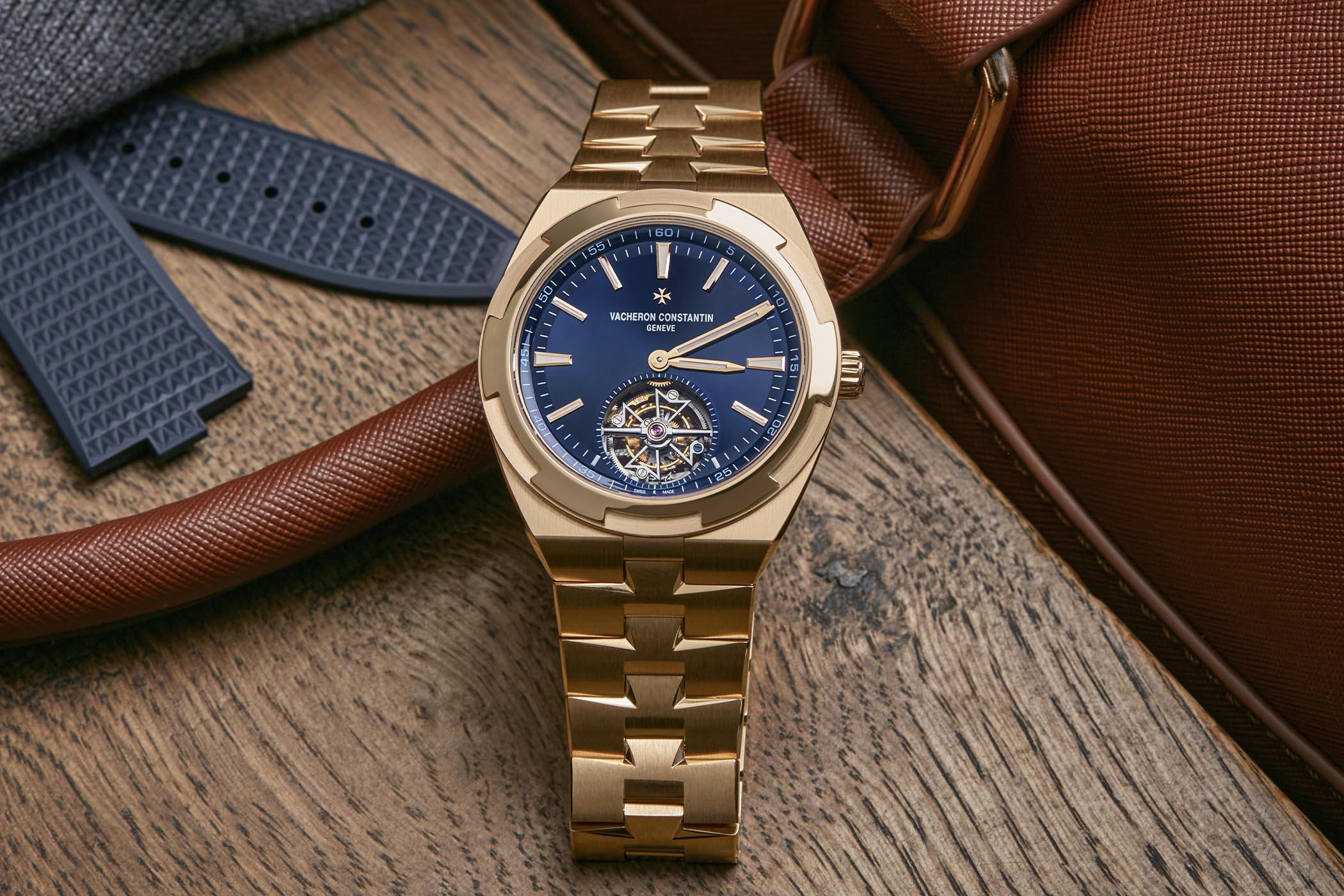 Vacheron Constantin Overseas Tourbillon Pink Gold Blue Dial 6000V-110R-B733