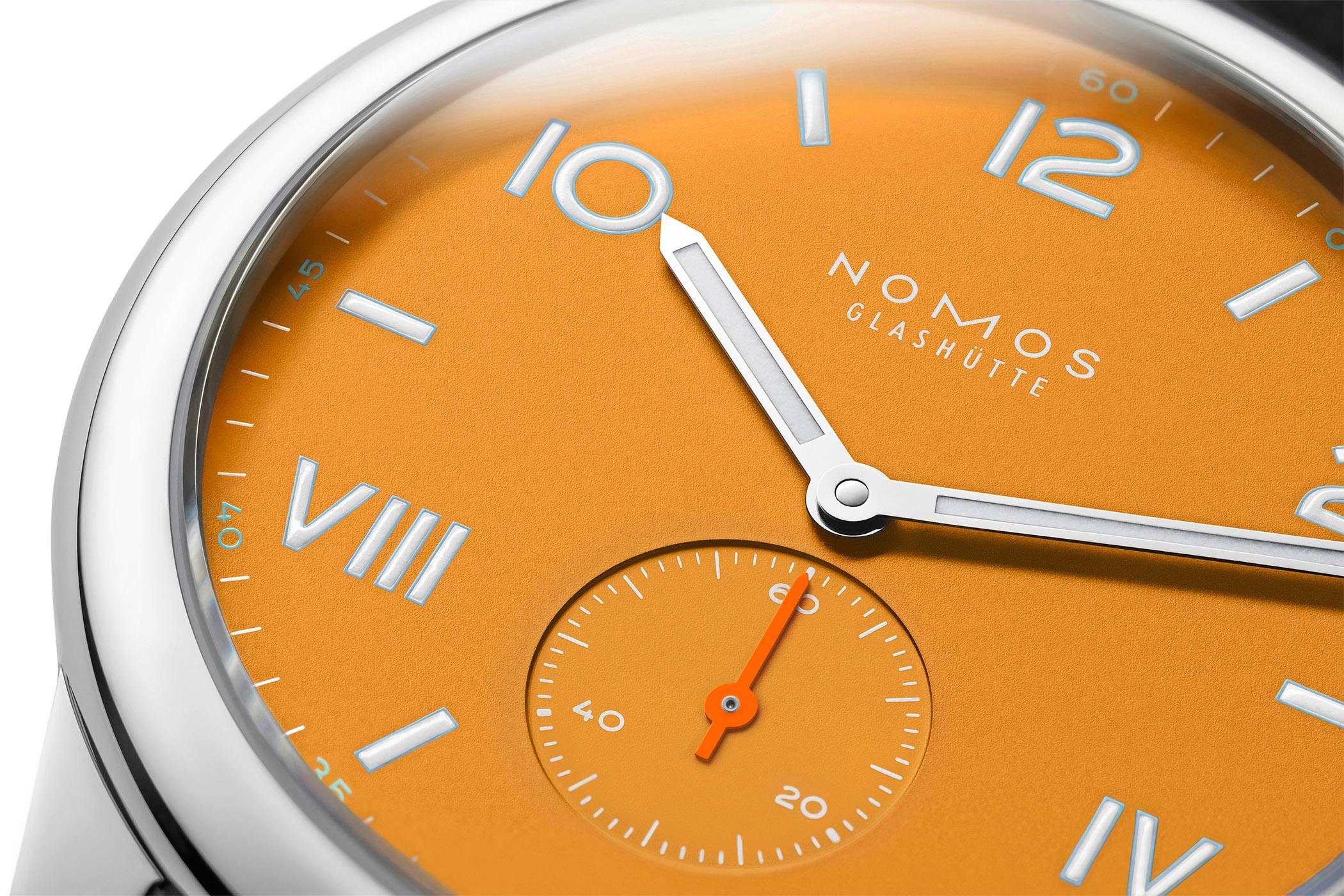 Nomos Club Campus Absolute Gray and Future Orange 2021 editions